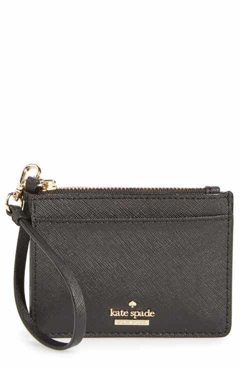 Black accessories easter gifts nordstrom kate spade new york cameron street mellody leather card case negle Images