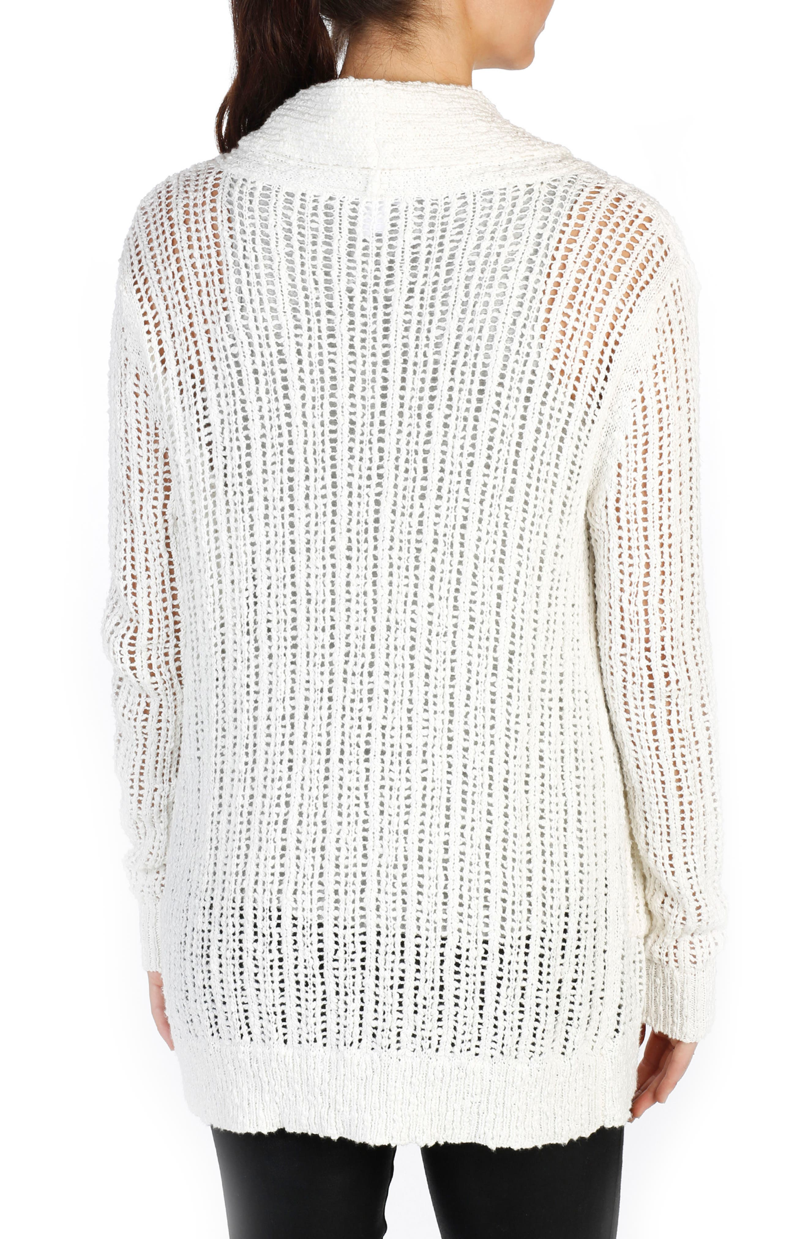 Aimee Cotton Cardigan,                             Alternate thumbnail 2, color,                             Bone