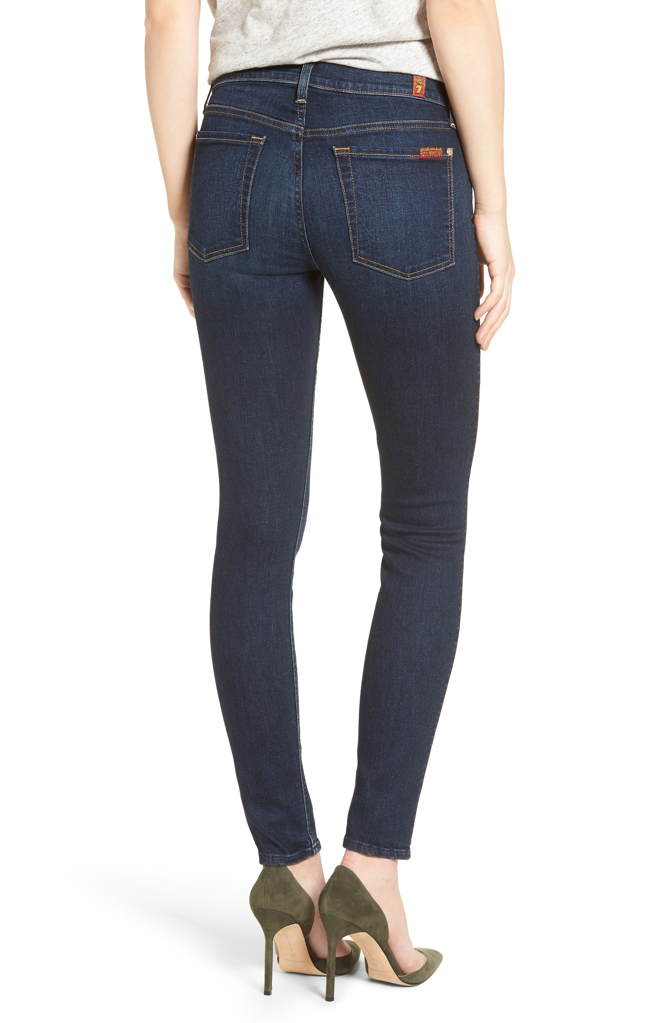 Alternate Image 2  - 7 For All Mankind® Skinny Jeans (Santiago Canyon)