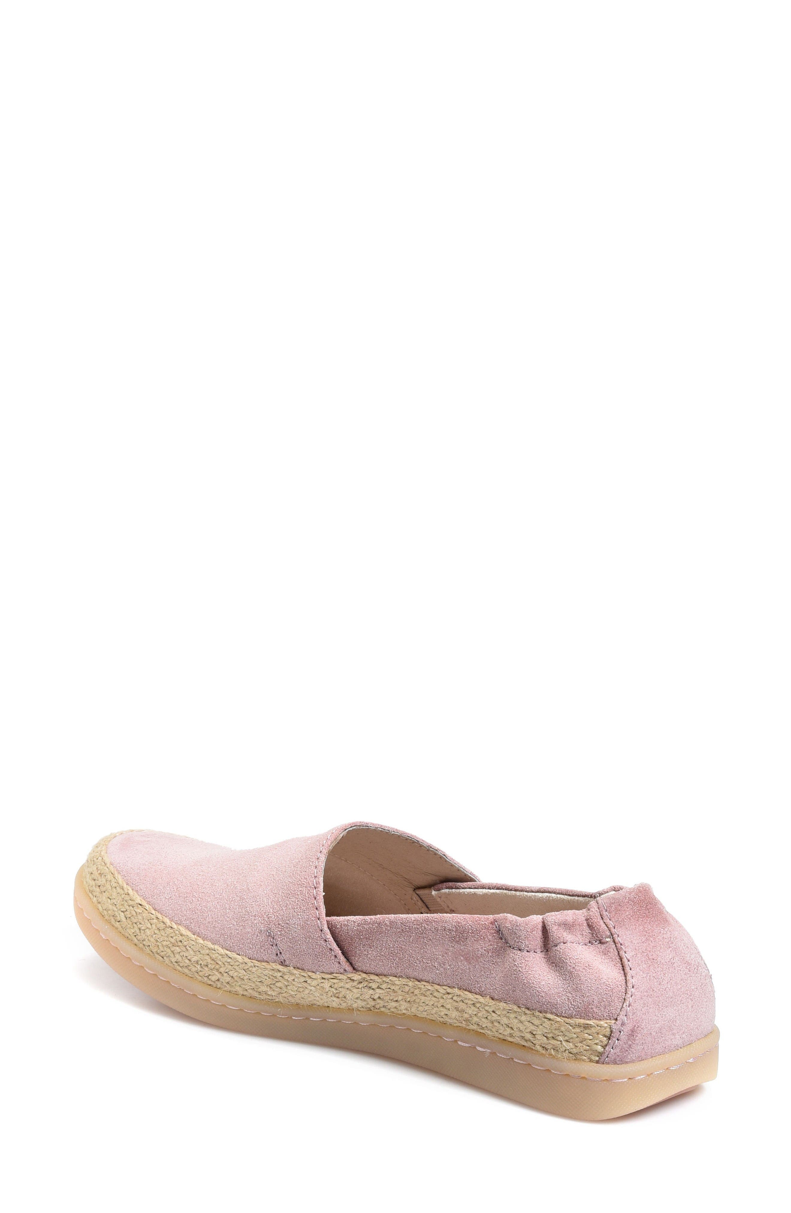 Castries Flat,                             Alternate thumbnail 2, color,                             Pink Suede