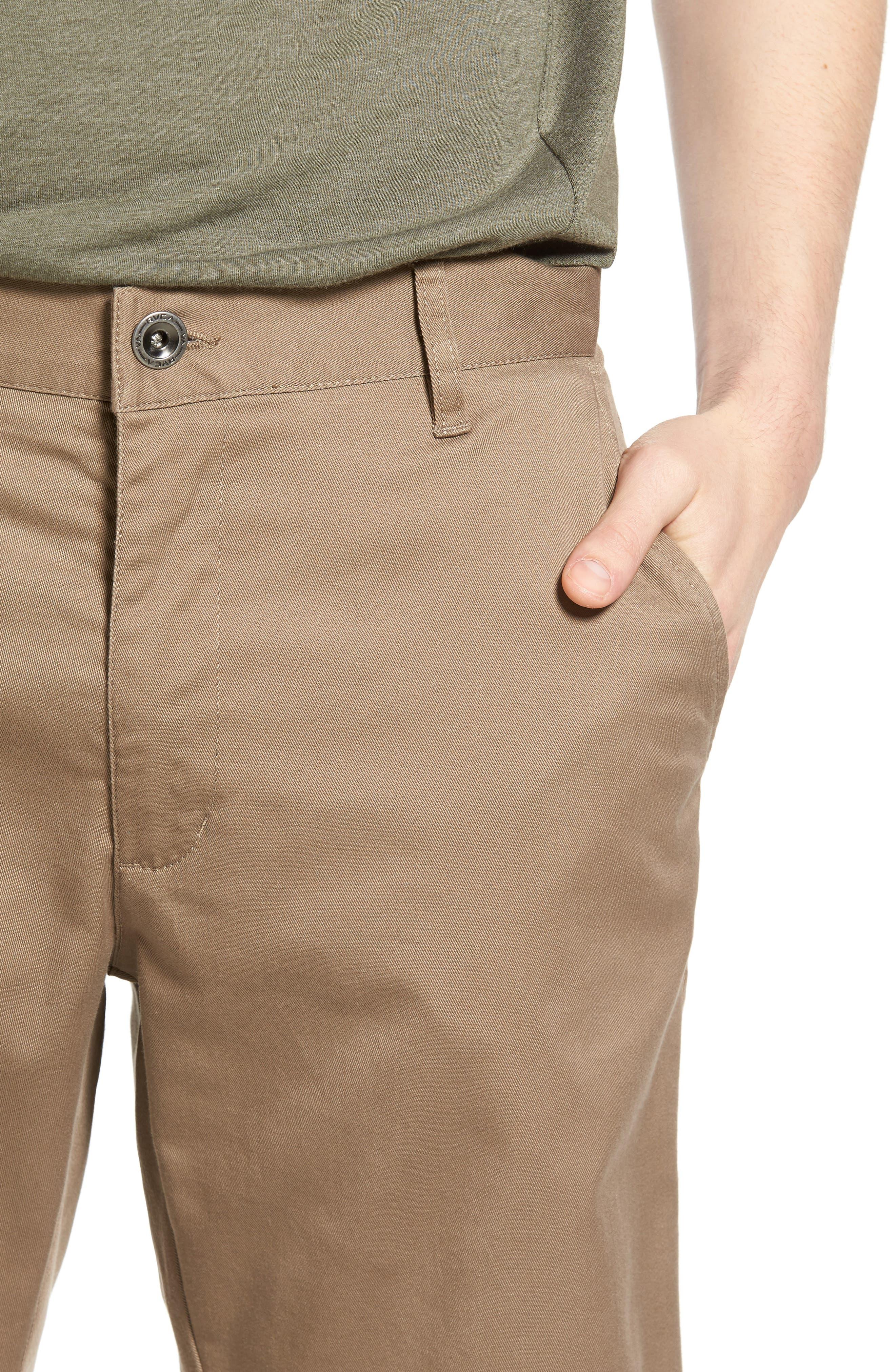 The Week-End Stretch Twill Chino Shorts,                             Alternate thumbnail 4, color,                             Dark Khaki