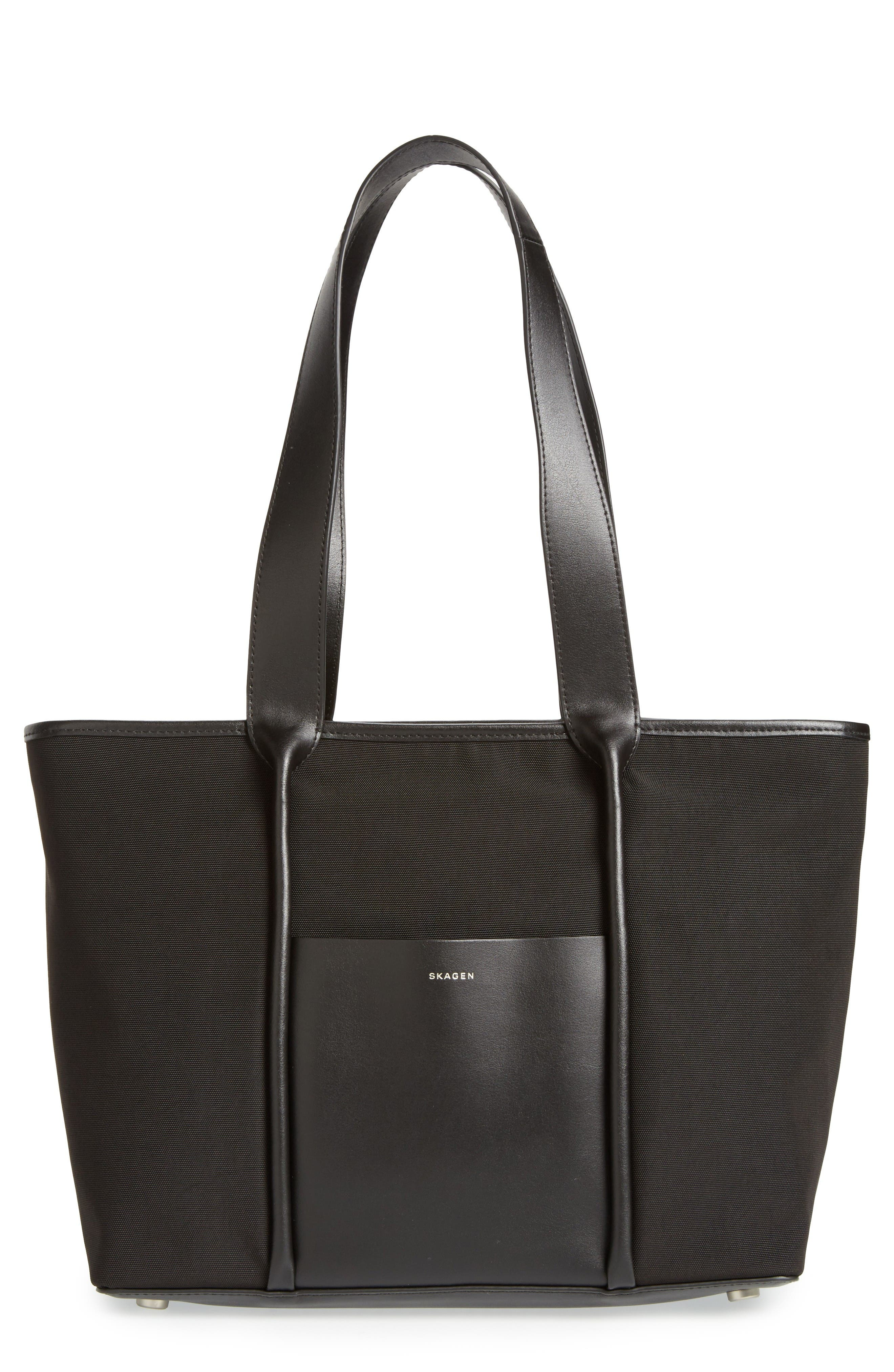 Main Image - Skagen Lisabet Coated Twill Tote