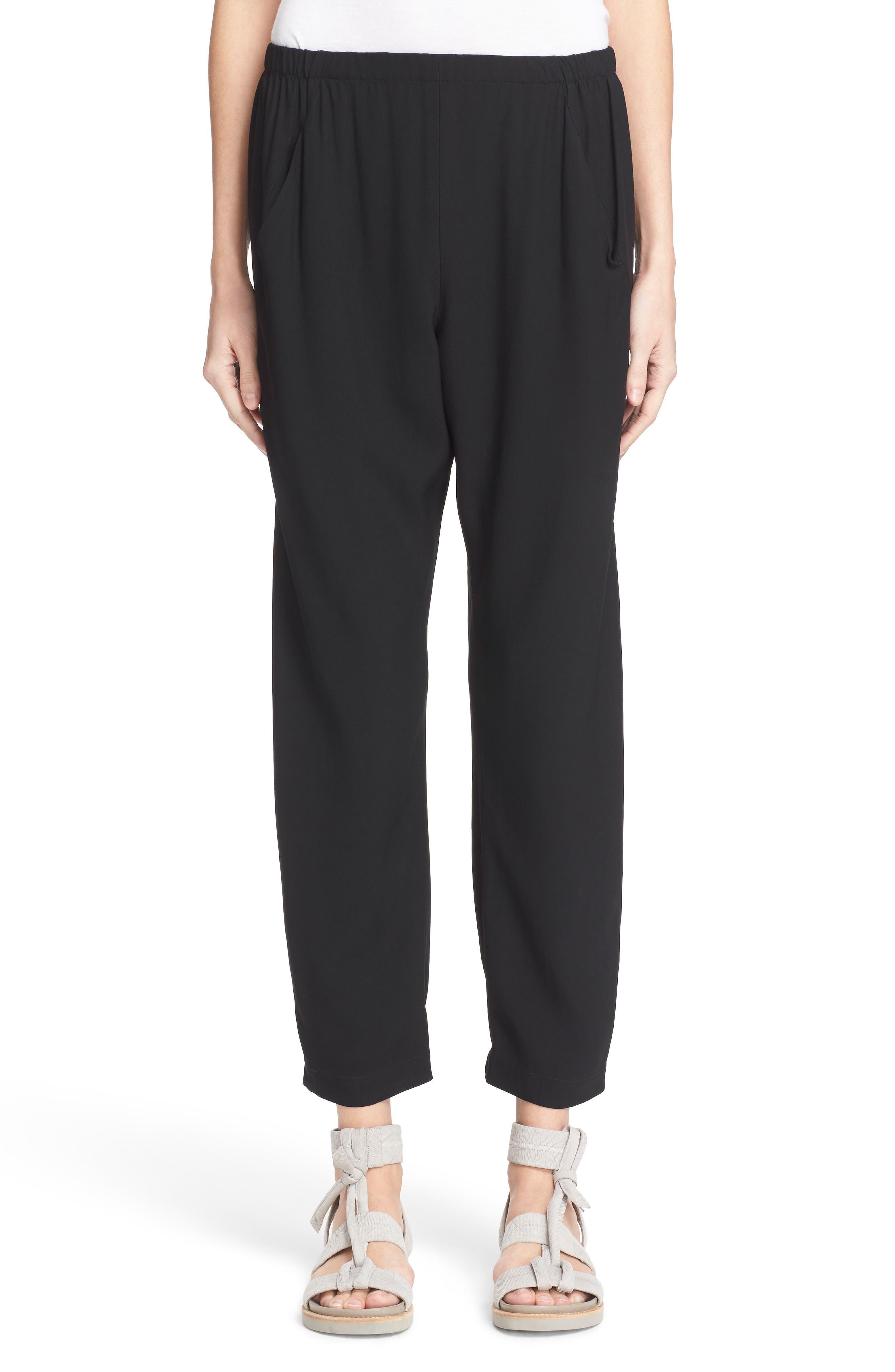 Gabi Drape Trousers,                             Main thumbnail 1, color,                             Black