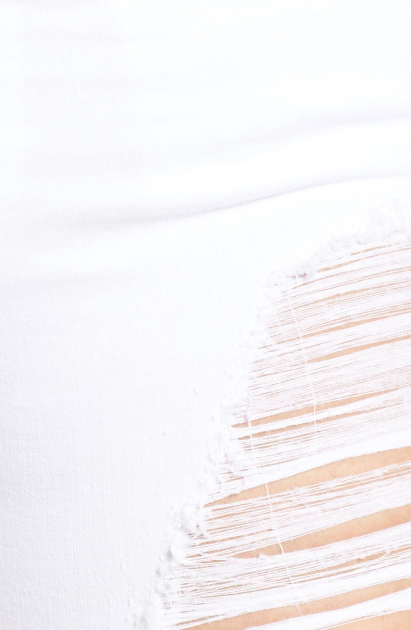 Destroyed Cutoff Denim Shorts,                             Alternate thumbnail 10, color,                             White 004
