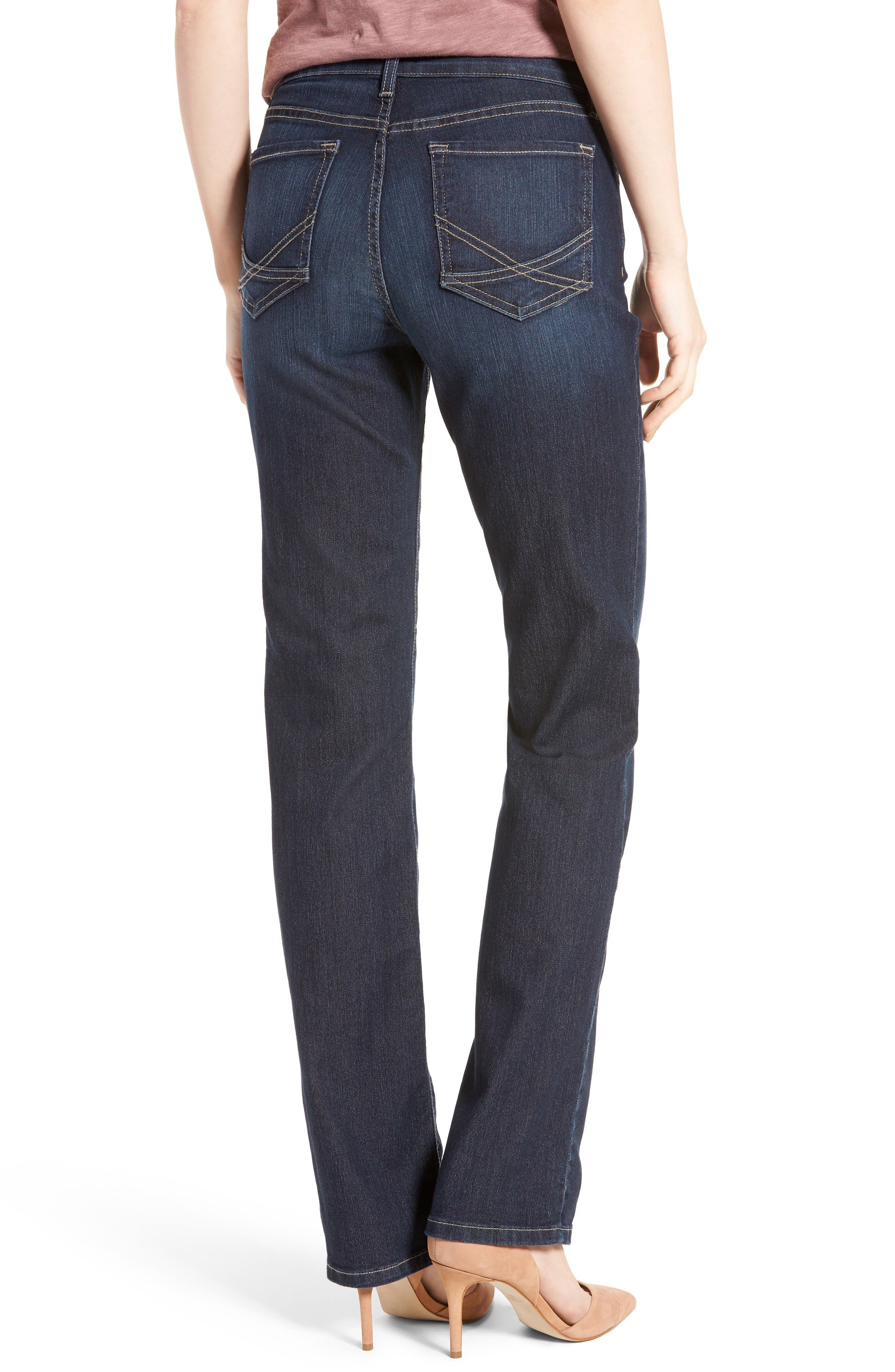 Marilyn Stretch Straight Leg Jeans,                             Alternate thumbnail 2, color,                             Hollywood Wash