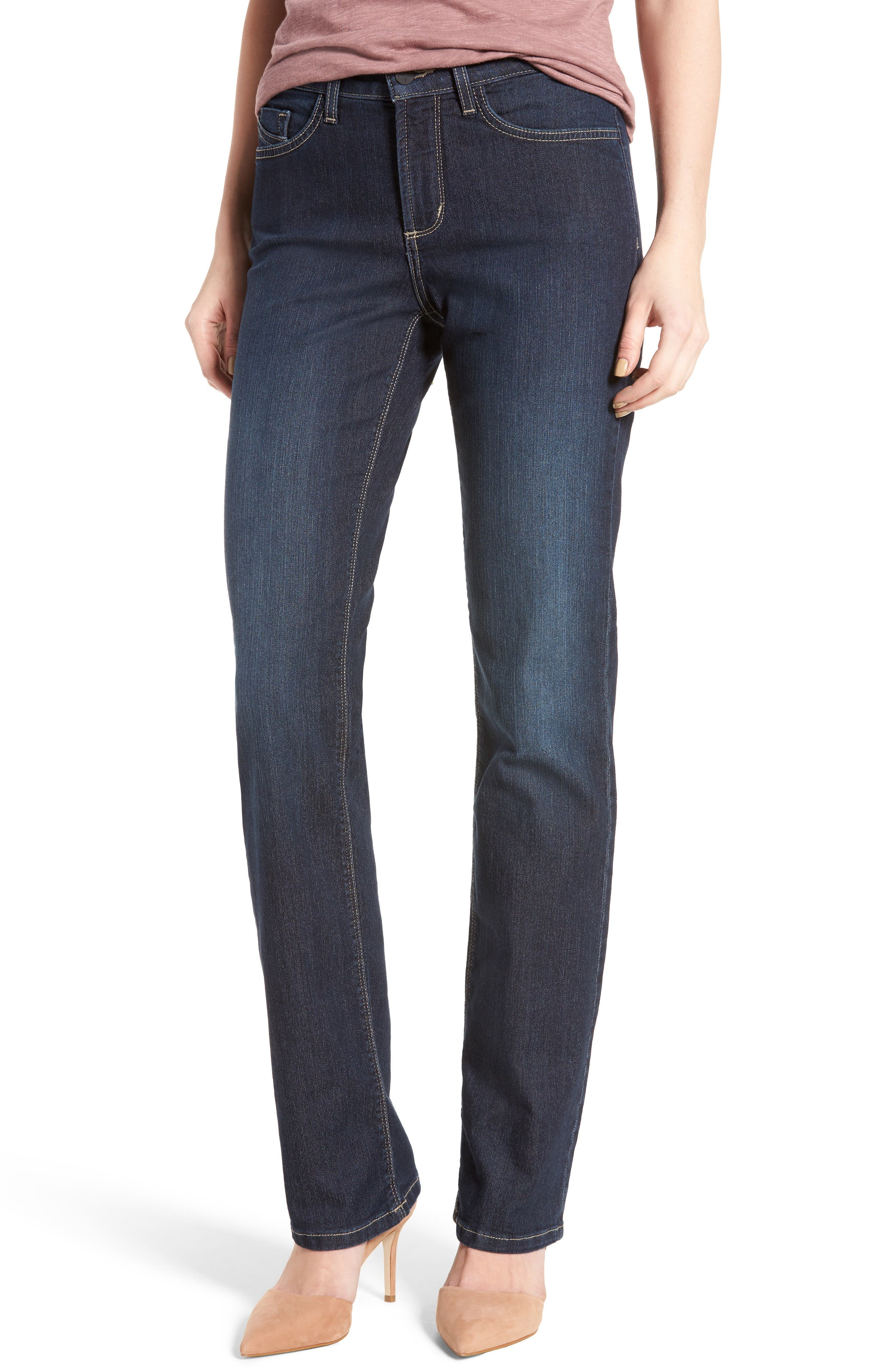 Marilyn Stretch Straight Leg Jeans,                             Main thumbnail 1, color,                             Hollywood Wash