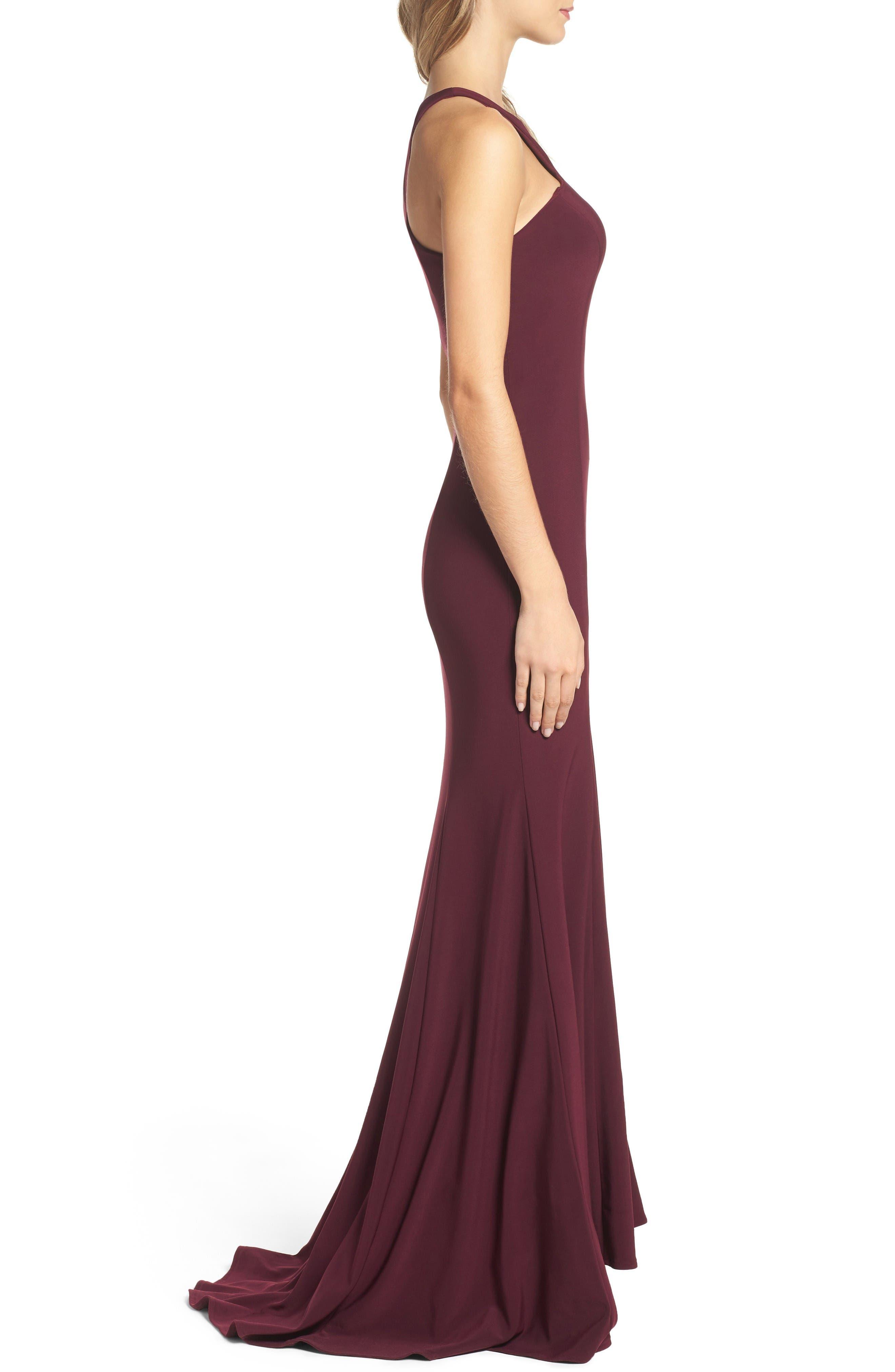 Alternate Image 3  - Xscape Jersey Cutout Bodice Gown (Regular & Petite)