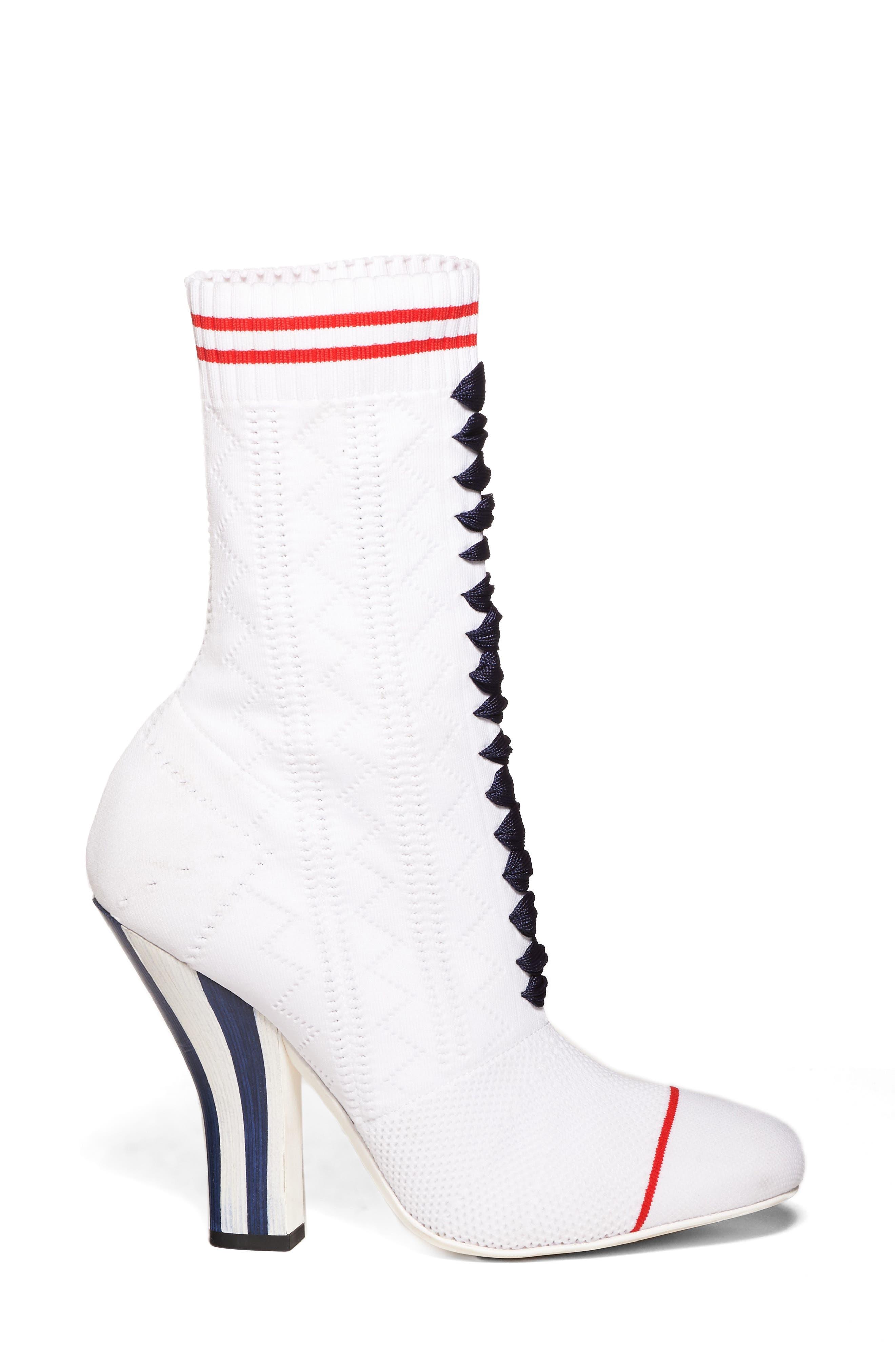 Alternate Image 3  - Fendi Lace-Up Sock Bootie (Women)