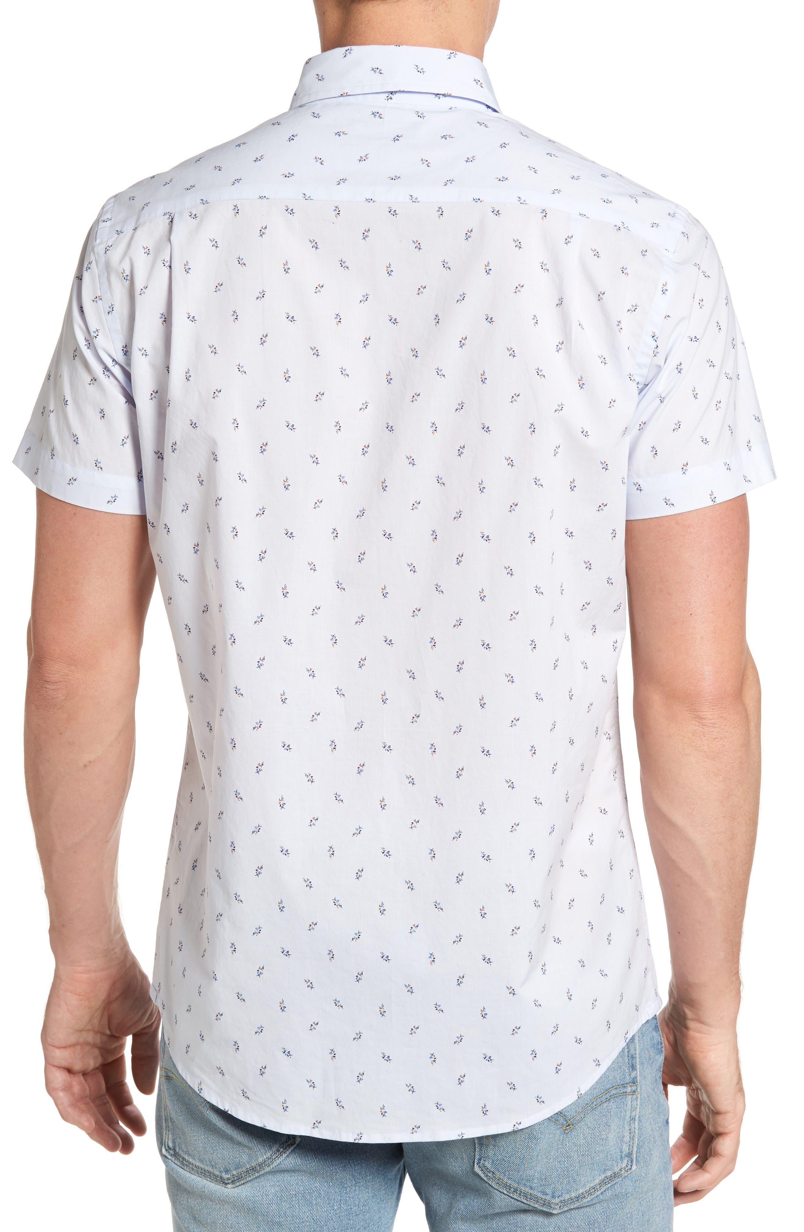 Waterfront Sport Shirt,                             Alternate thumbnail 3, color,                             Powder Blue