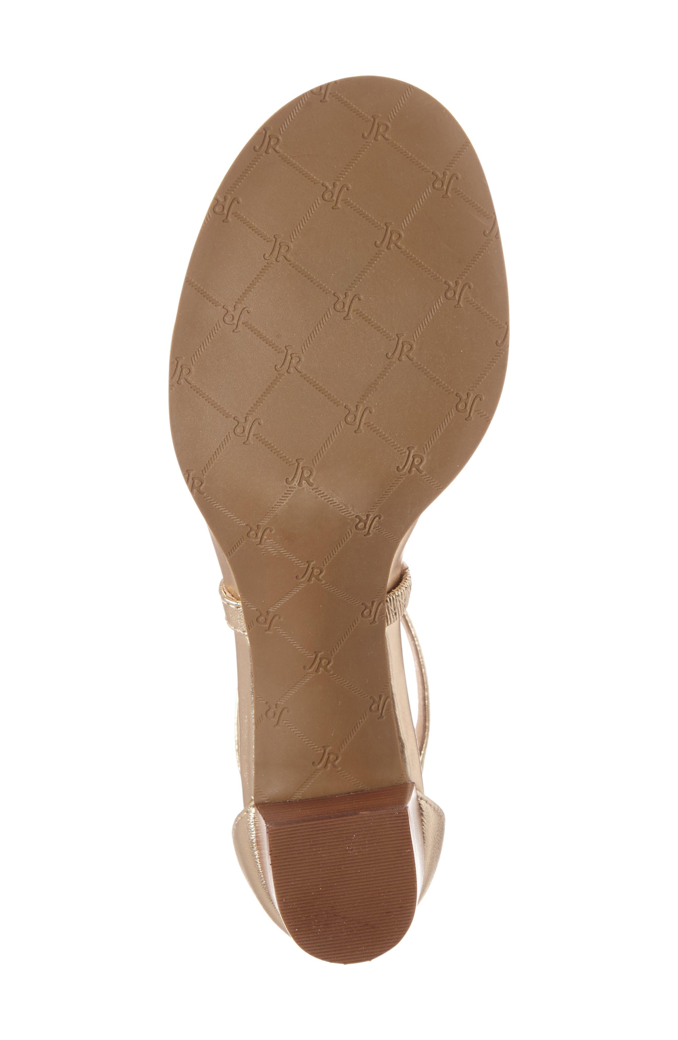 Julia Block Heel Sandal,                             Alternate thumbnail 4, color,                             Platinum Leather