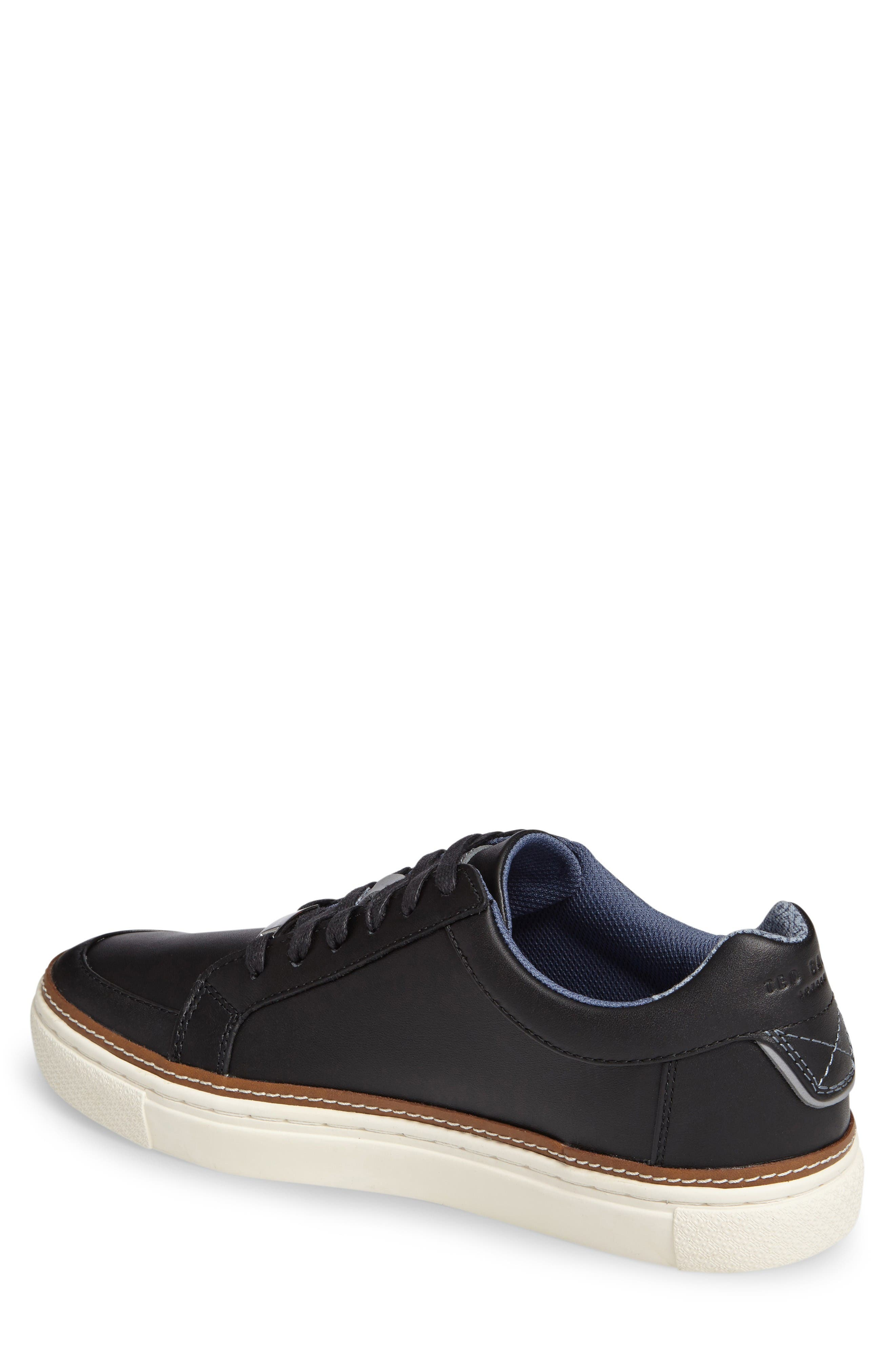 Rouu Sneaker,                             Alternate thumbnail 2, color,                             Black Leather