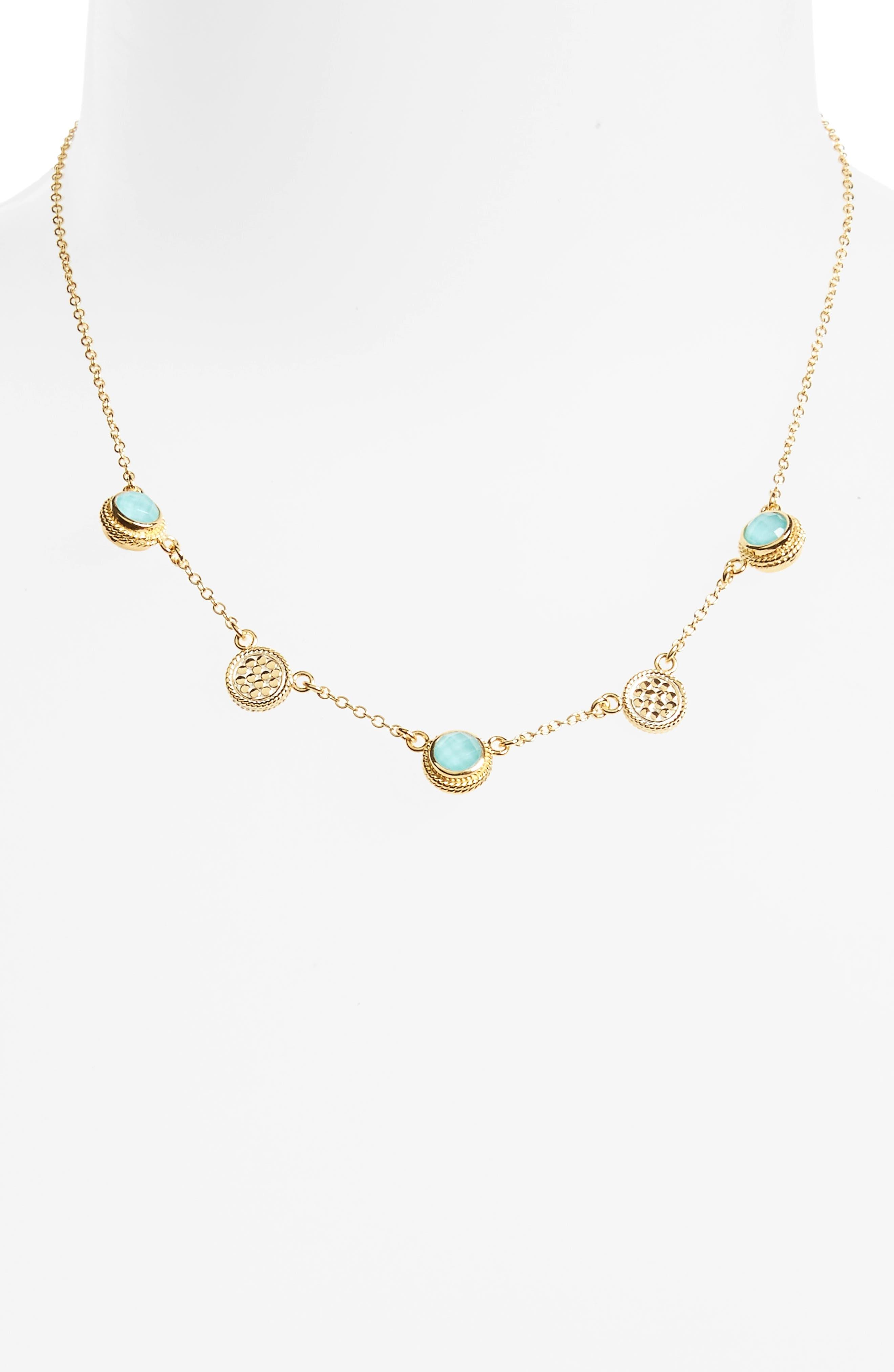 Anna Beck Semiprecious Stone Station Necklace