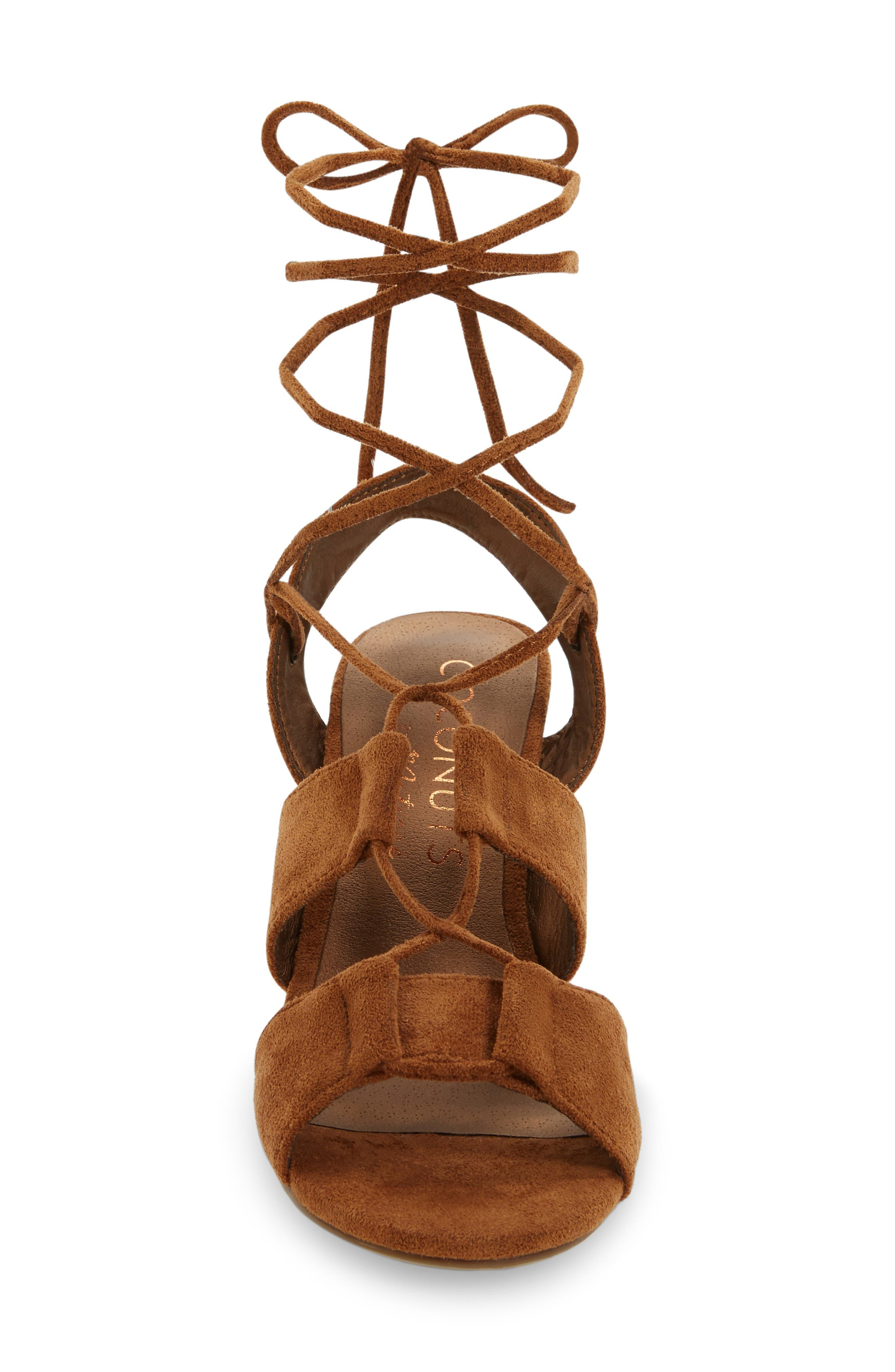 Coconuts by Matisse City Sandal,                             Alternate thumbnail 3, color,                             Saddle Suede