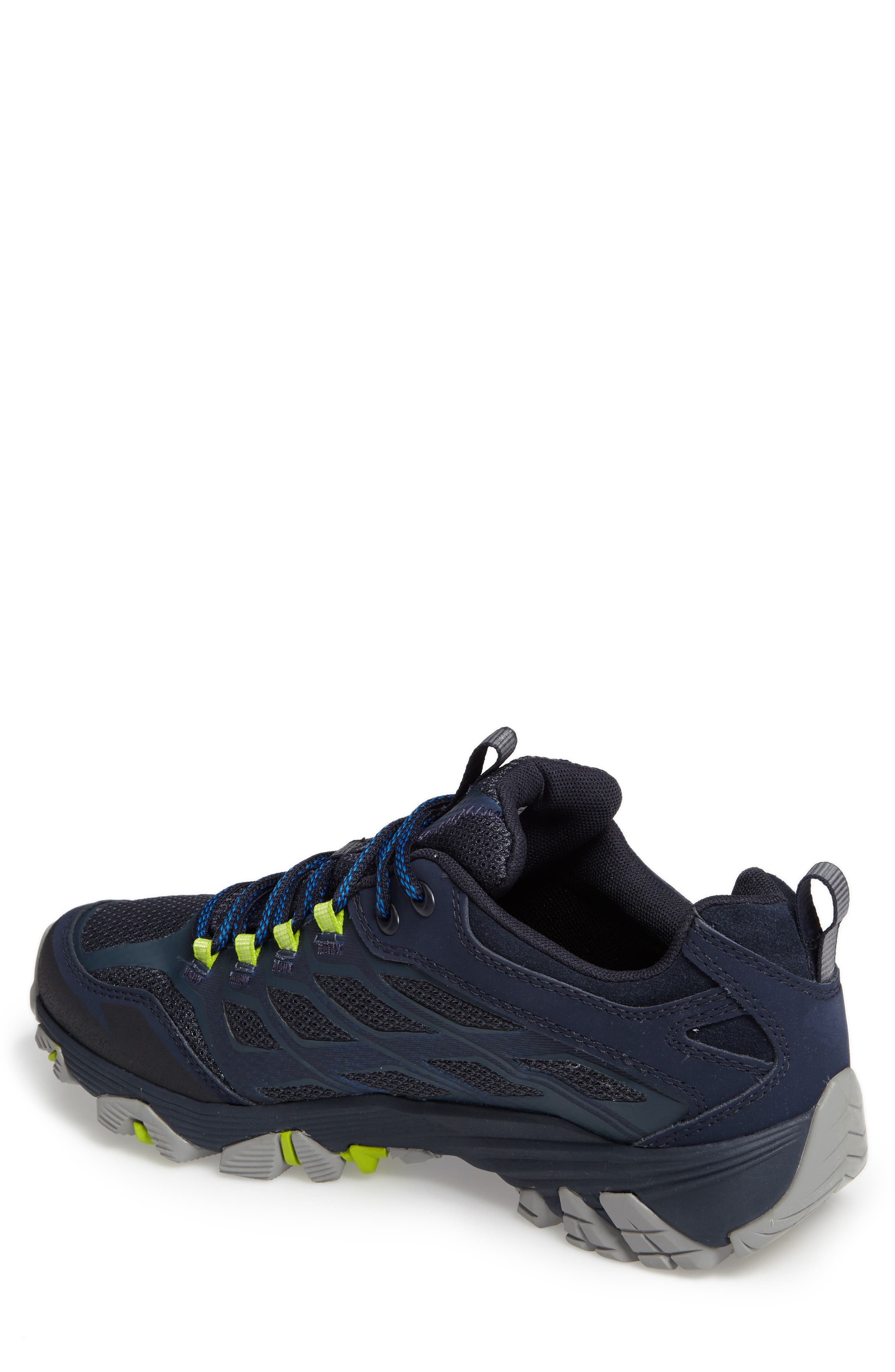 Moab FST Waterproof Hiking Shoe,                             Alternate thumbnail 2, color,                             Navy