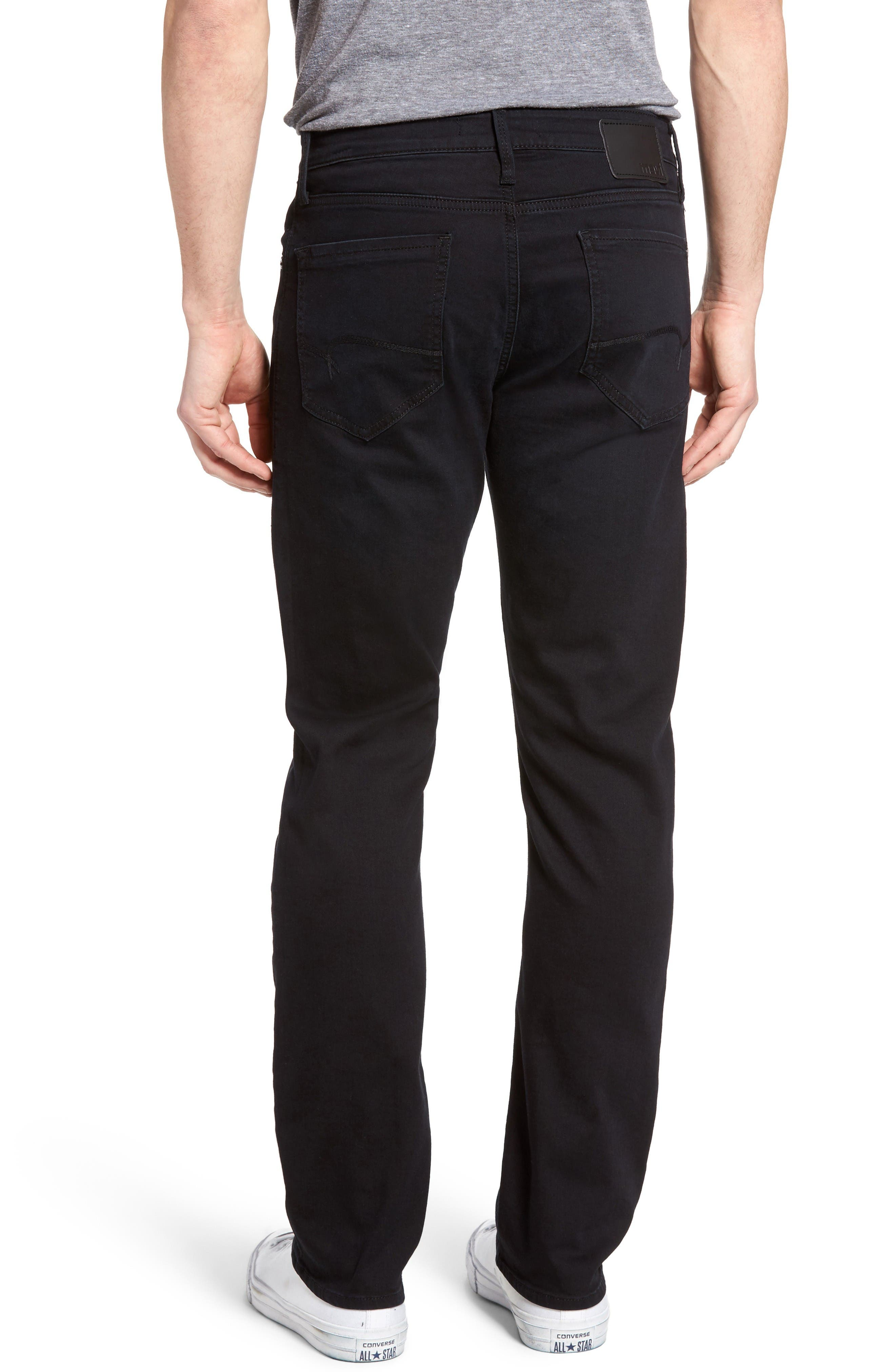 Alternate Image 2  - Mavi Jeans Zach Straight Leg Jeans (E Black Williamsburg)