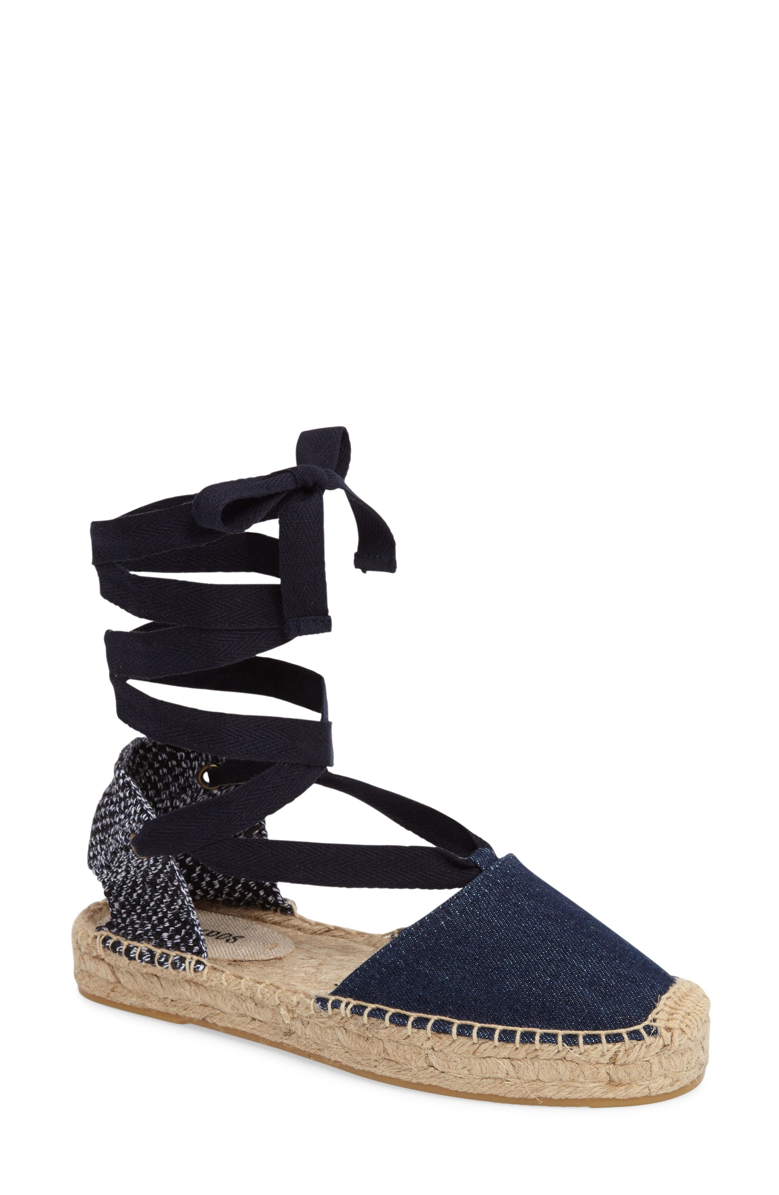 Gladiator Platform Espadrille,                             Main thumbnail 1, color,                             Dark Denim