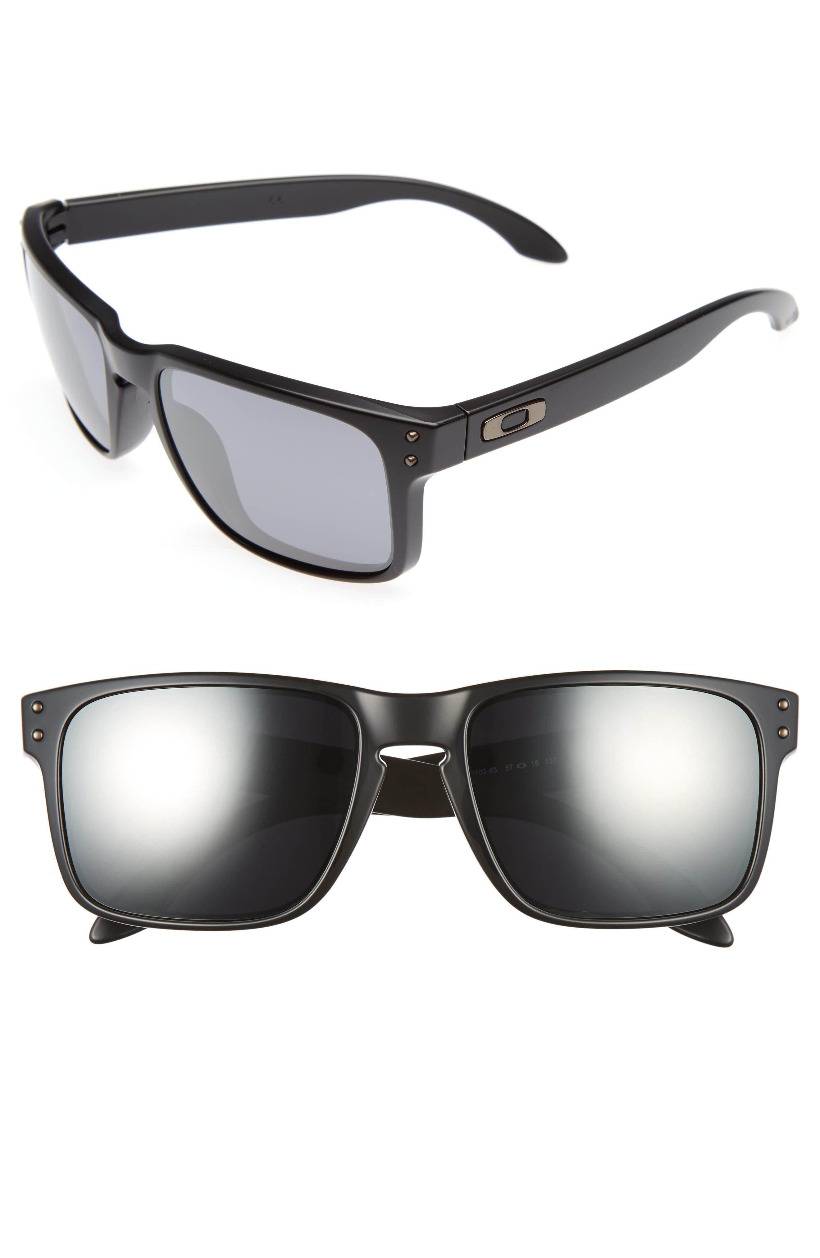 Holbrook 57mm Sunglasses,                             Main thumbnail 1, color,                             Black