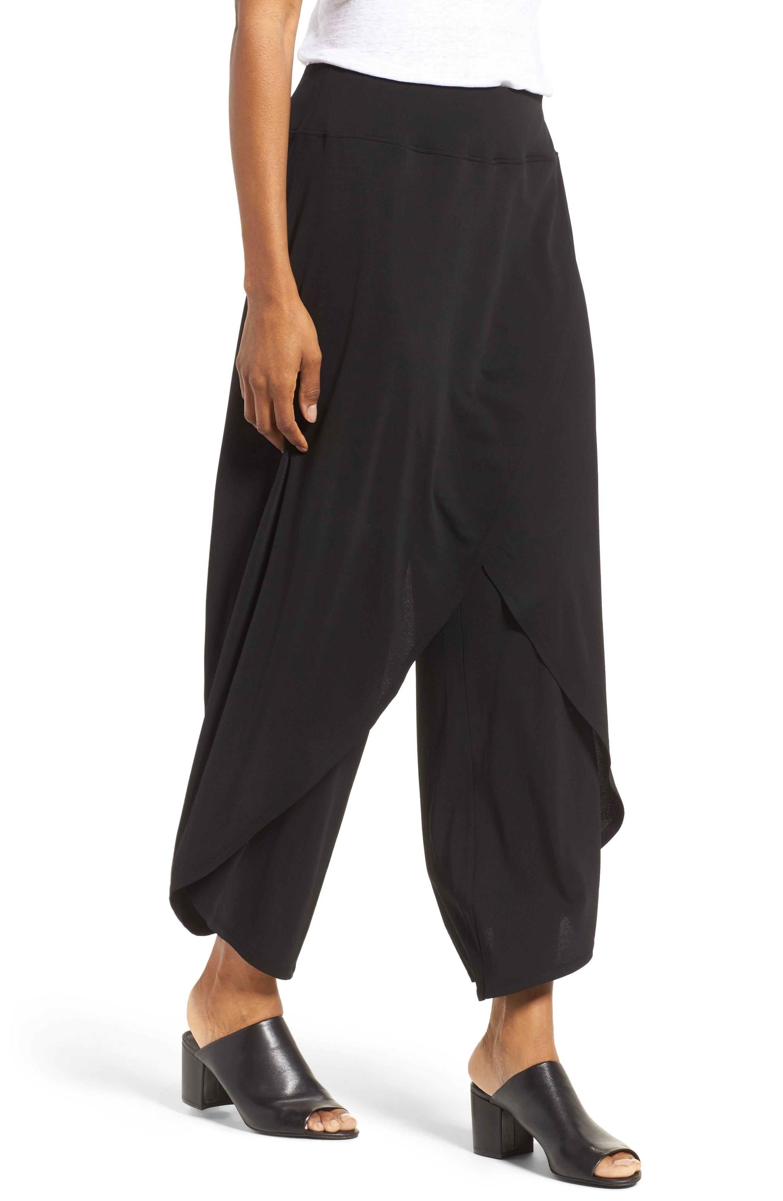 Alternate Image 3  - Eileen Fisher Silk Cross Front Wide Leg Pants