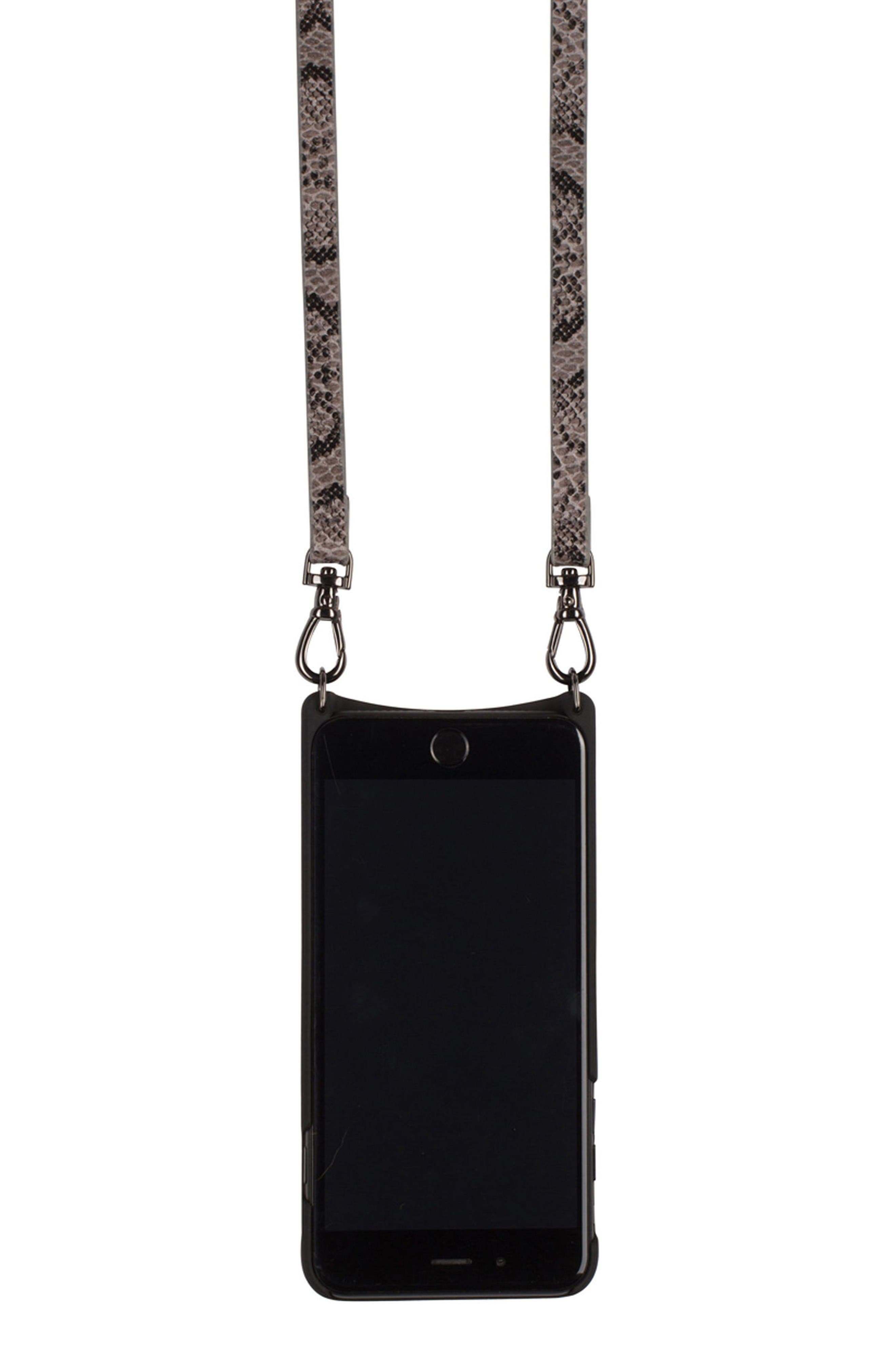 Cynthia iPhone 6/7 & 6/7 Plus Crossbody Case,                             Alternate thumbnail 3, color,                             Grey/ Pewter