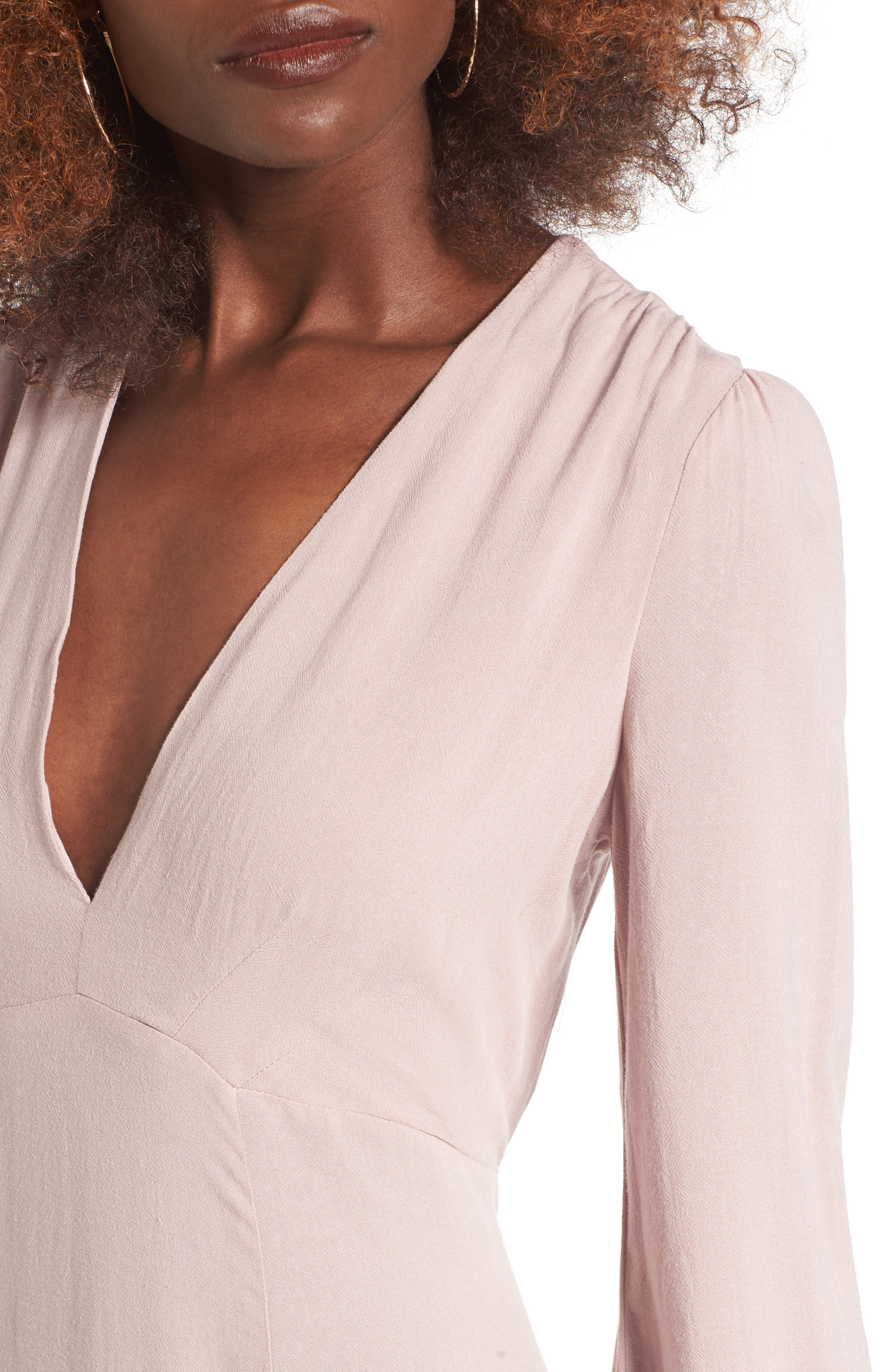 Alternate Image 4  - Lush Open Back Woven Maxi Dress