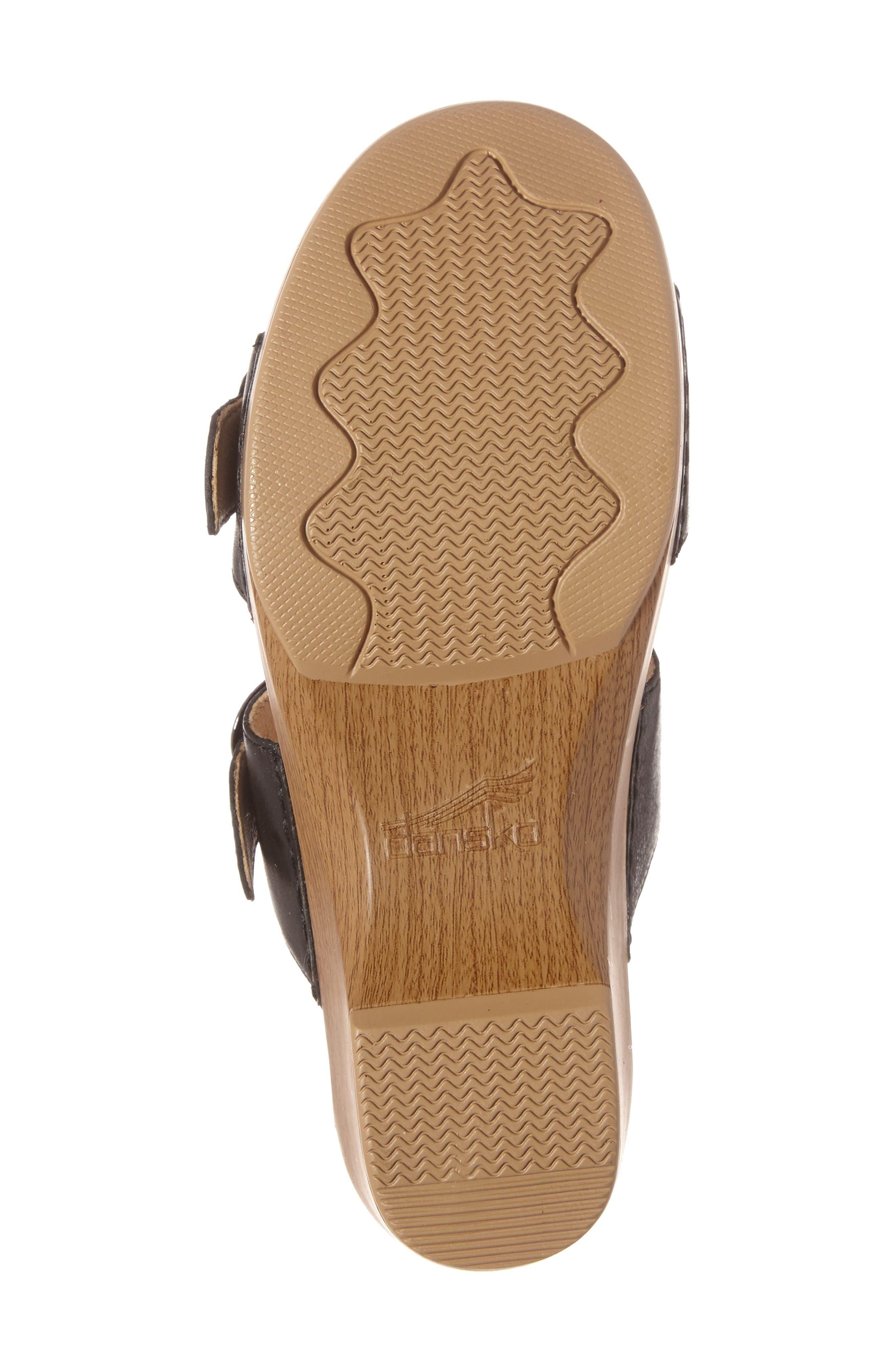 'Sophie' Sandal,                             Alternate thumbnail 4, color,                             Black Full Grain Leather