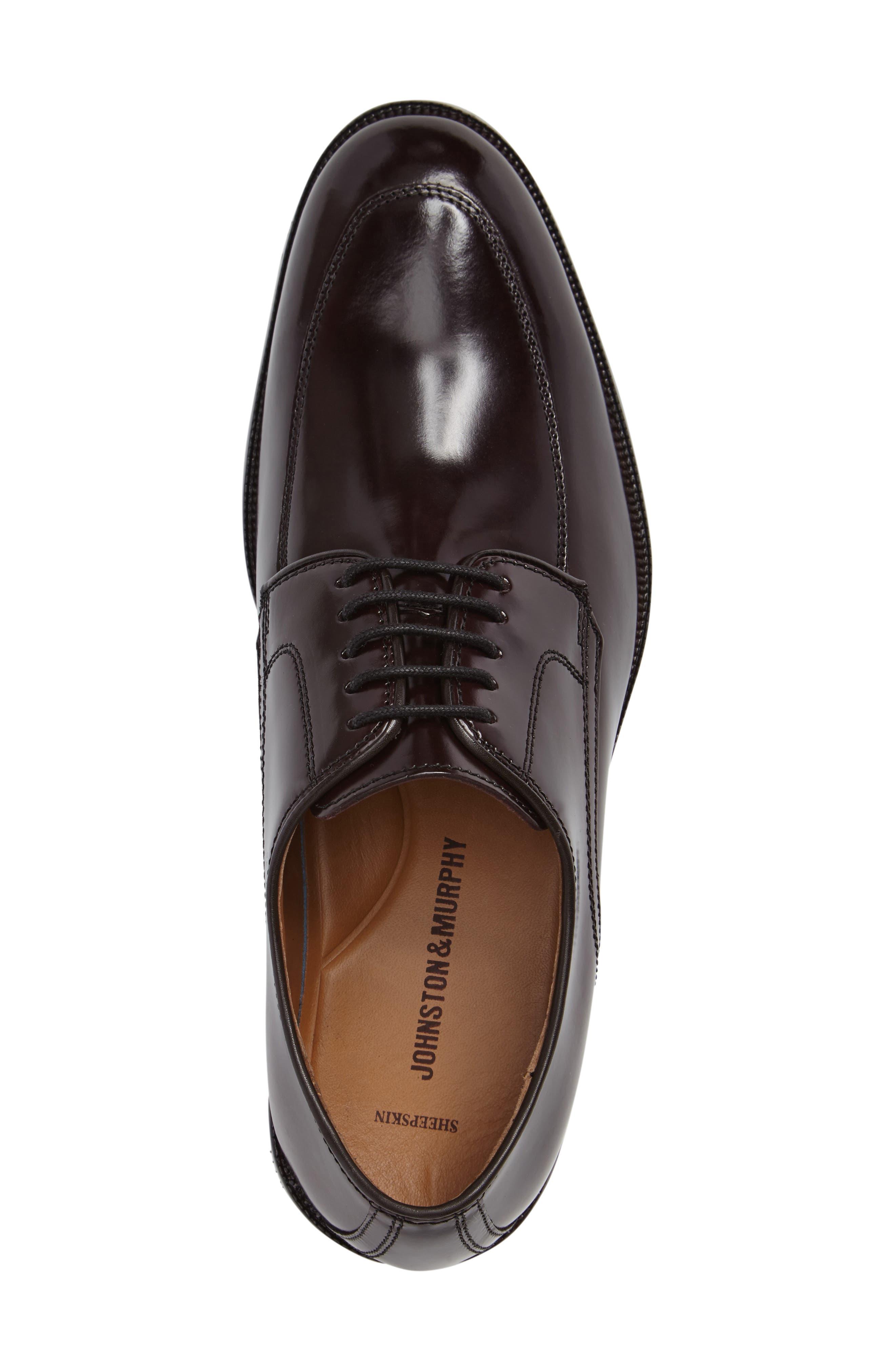 Bradford Apron-Toe Oxford,                             Alternate thumbnail 4, color,                             Burgundy Leather