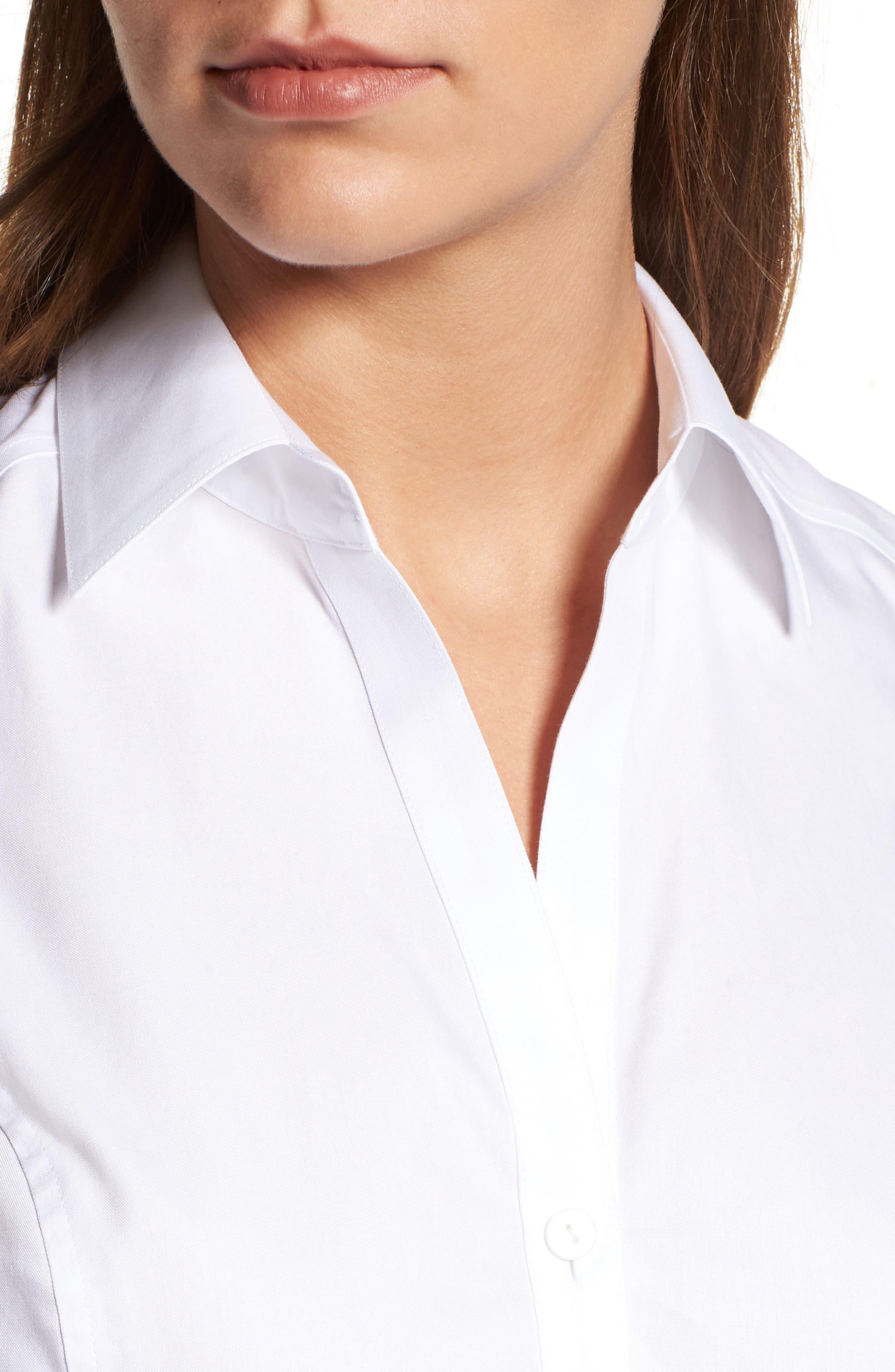 Alternate Image 4  - Foxcroft Sleeveless Cotton Tunic (Regular & Petite)