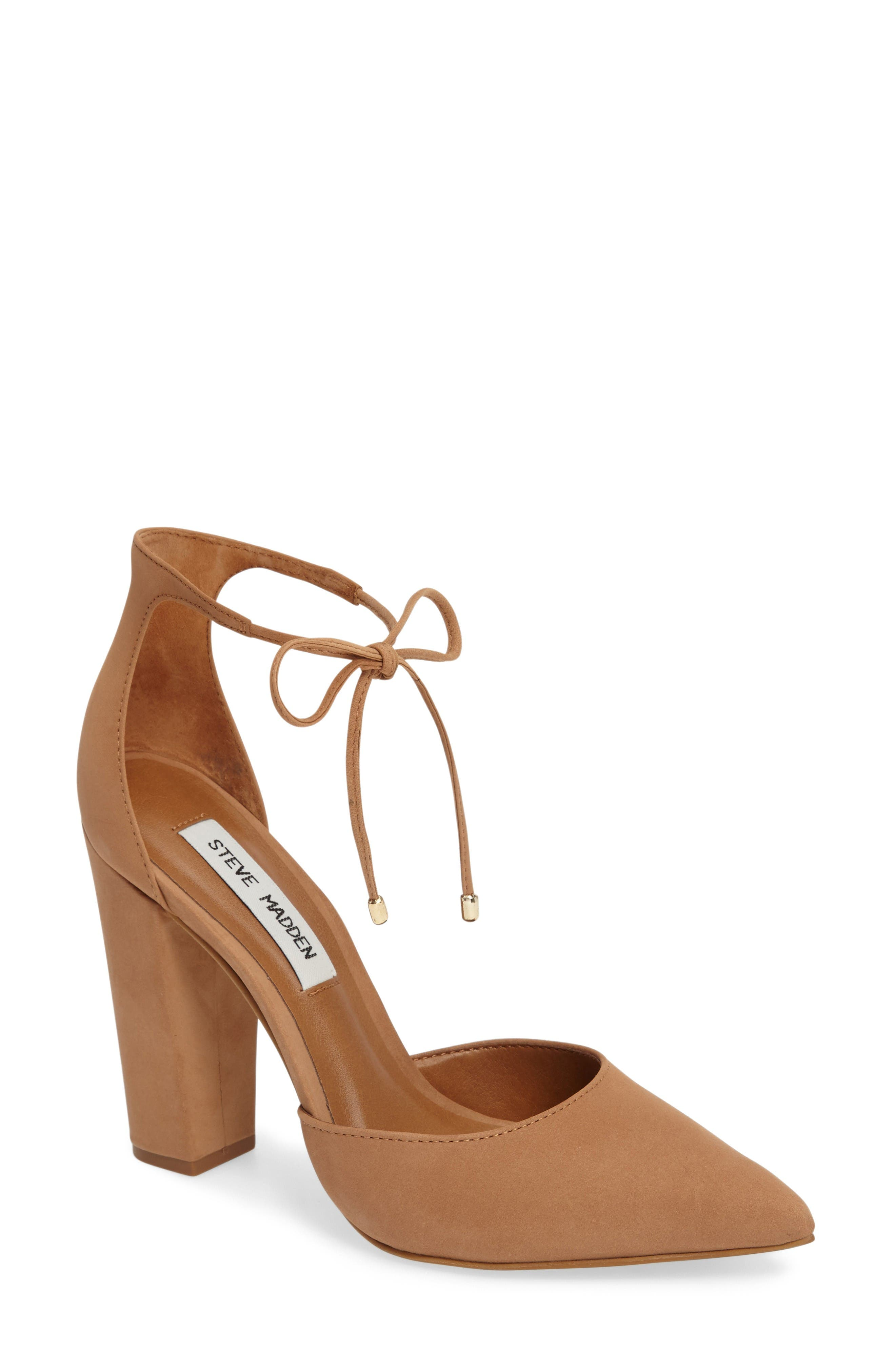 Pamperd Lace-Up Pump,                         Main,                         color, Tan Nubuck Leather