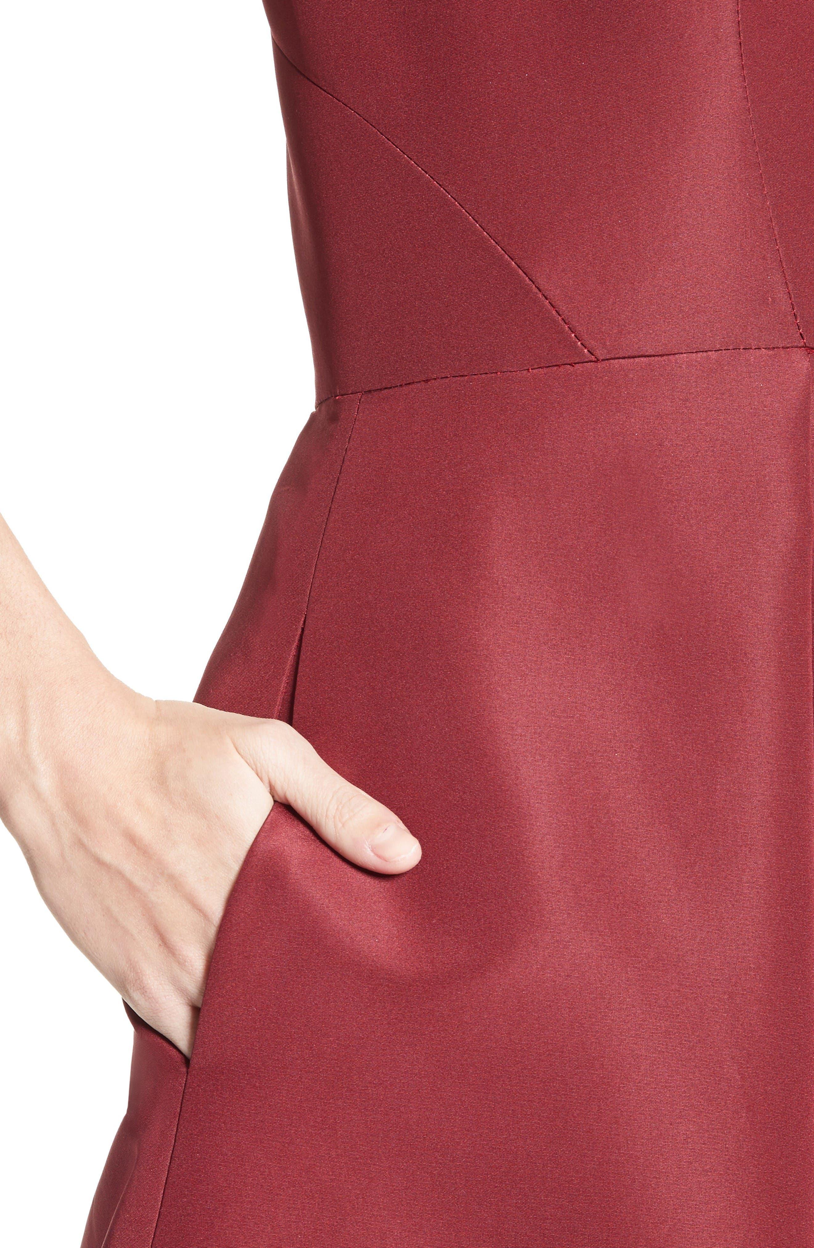 Alternate Image 5  - Pamella Roland Beaded Silk Faille Gown