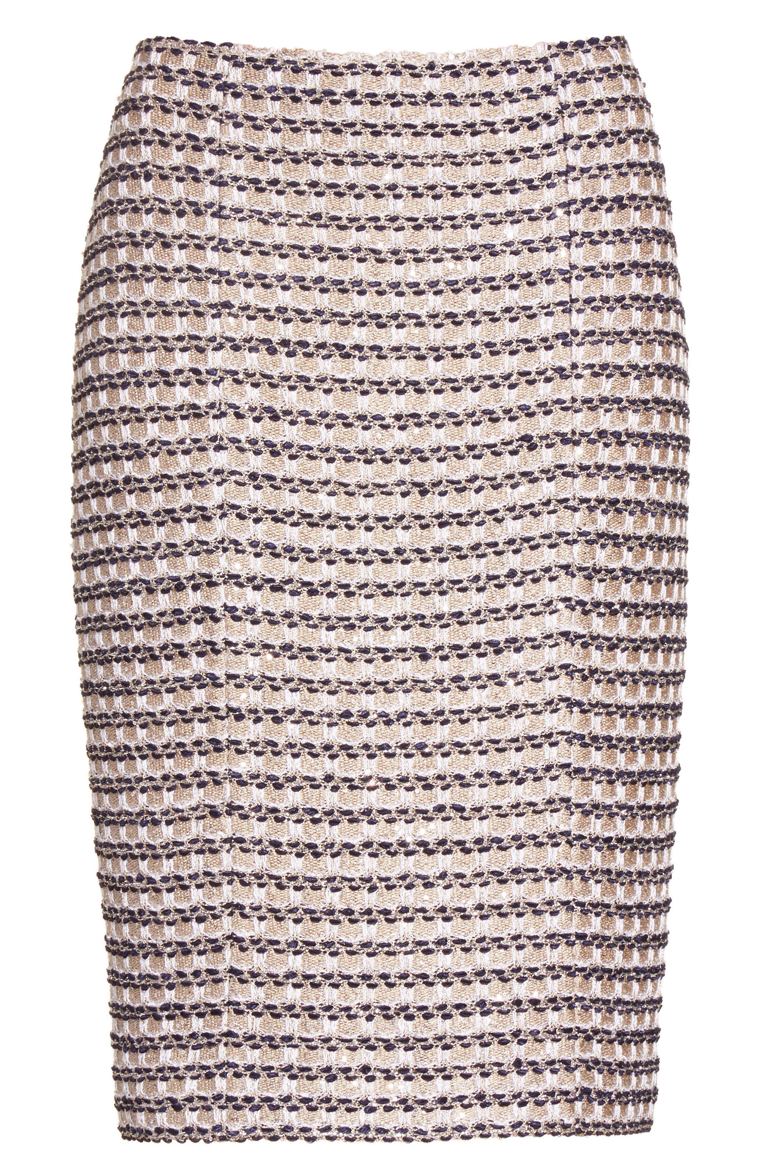 Alternate Image 6  - St. John Collection Vany Tweed Knit Pencil Skirt