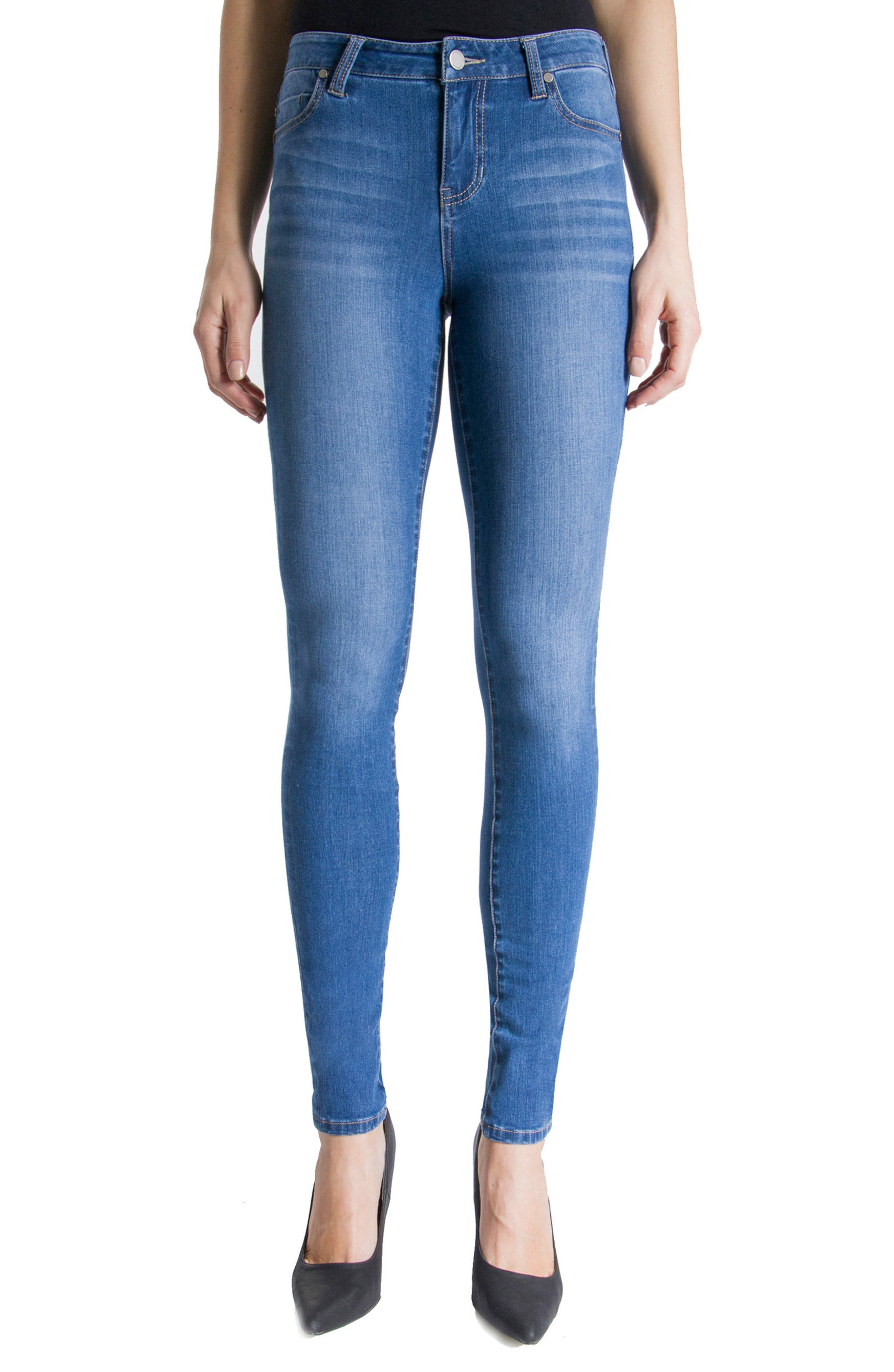 Abby Stretch Skinny Jeans,                             Main thumbnail 1, color,                             Hydra Stone