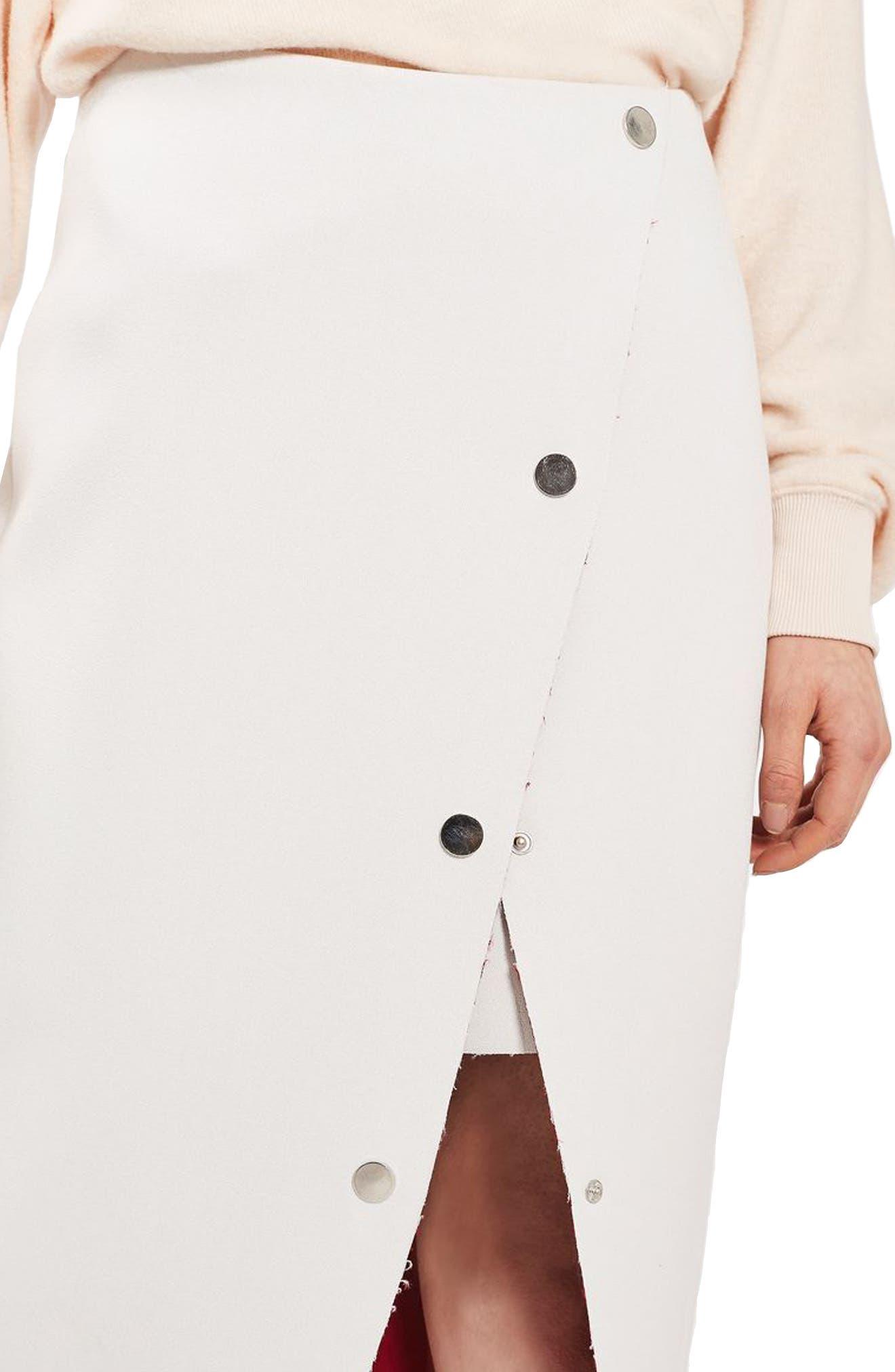 Alternate Image 5  - Topshop Snap Midi Skirt