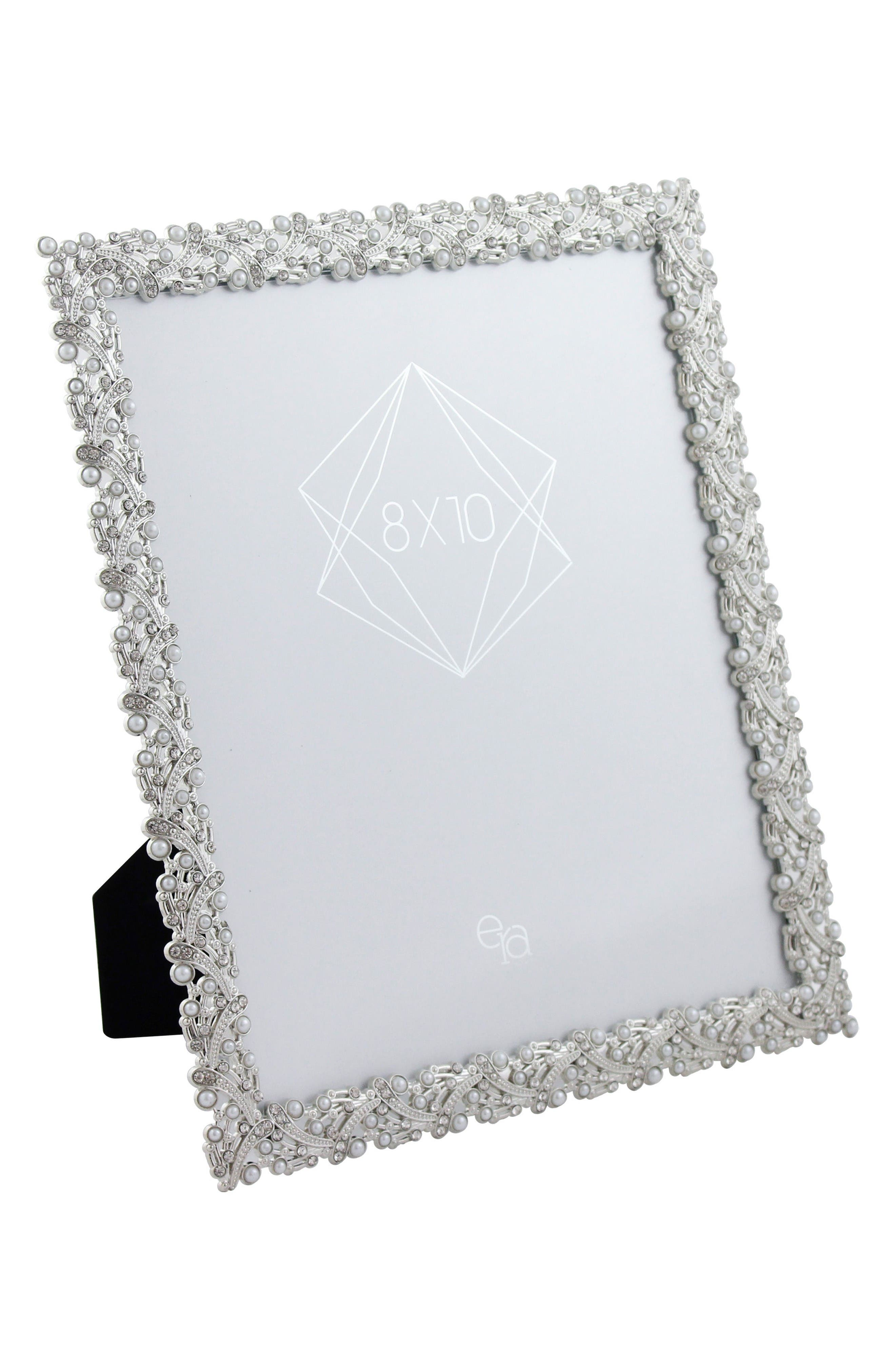 Alternate Image 2  - Era Home Crystal & Imitation Pearl Picture Frame