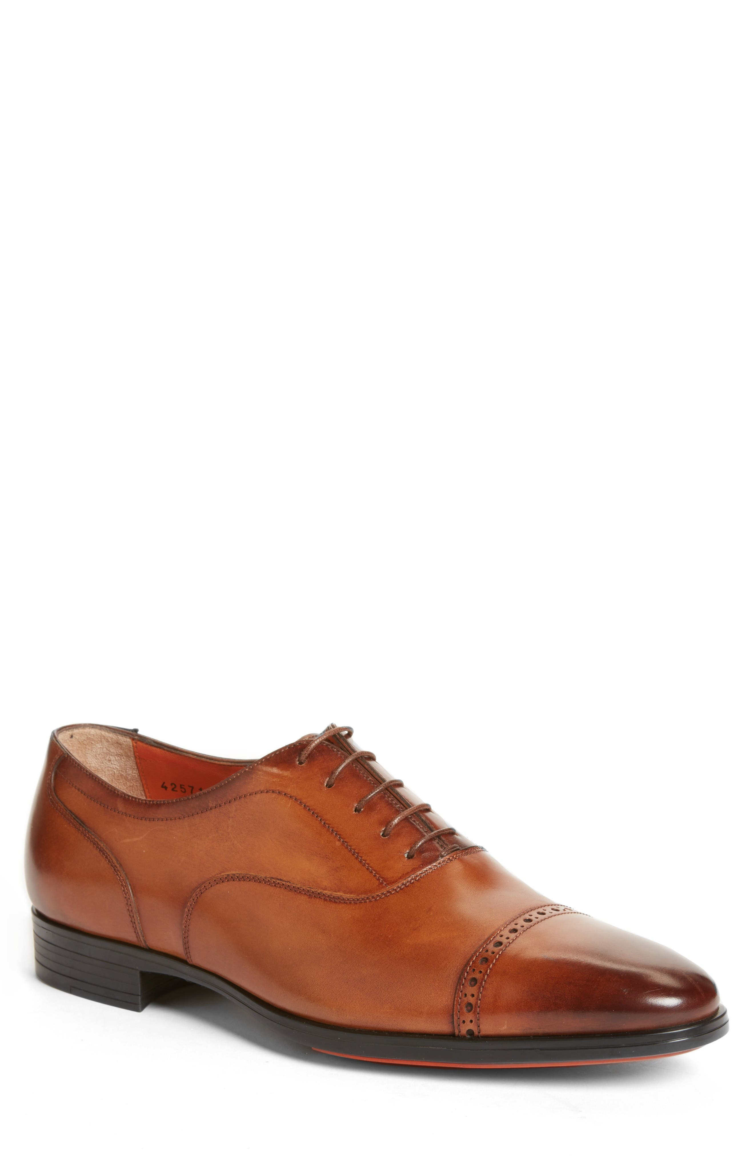 Fitz Cap Toe Oxford,                         Main,                         color, Tan Leather