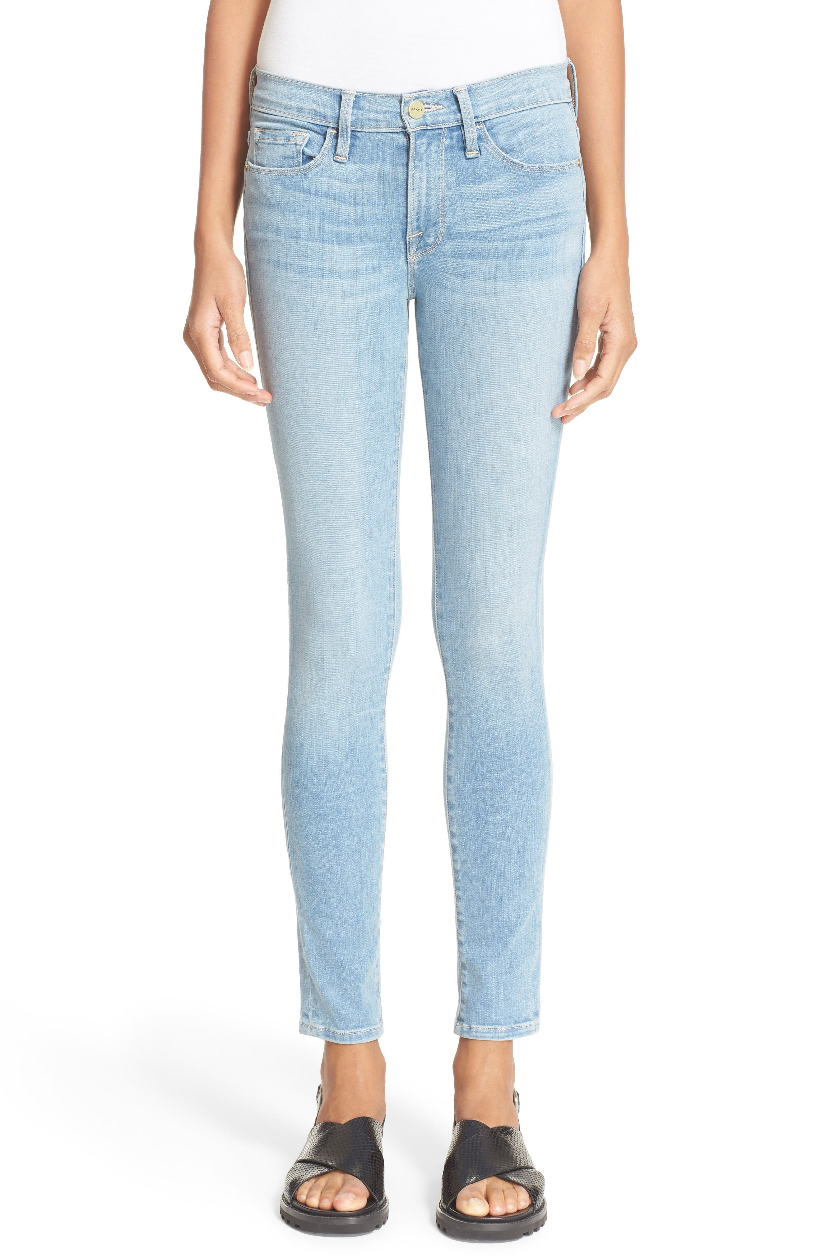 Alternate Image 1 Selected - FRAME 'Le Skinny de Jeanne' Jeans (Antibes)