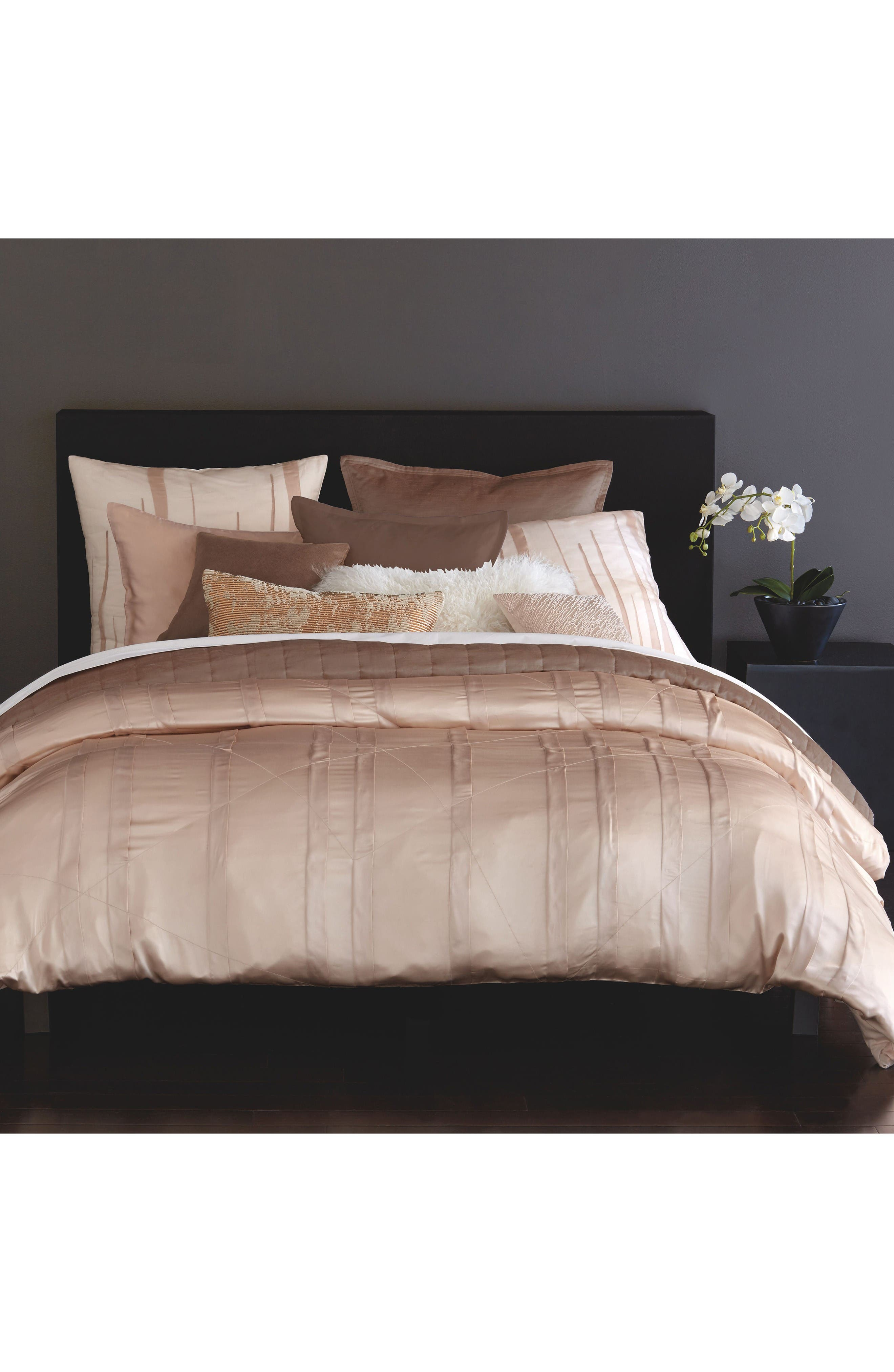 Main Image - Donna Karan Home Collection Awakening Silk Duvet Cover