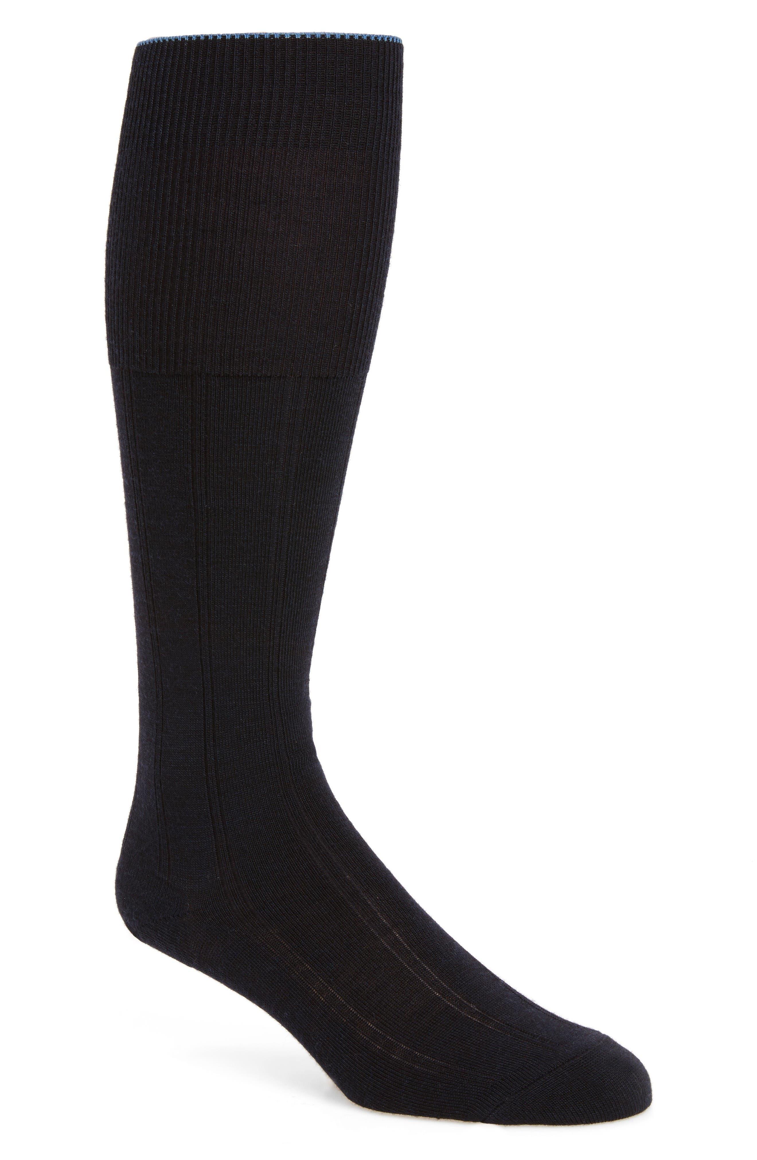 Nordstrom Mens Shop Over the Calf Wool Socks (Men) (3 for $35)