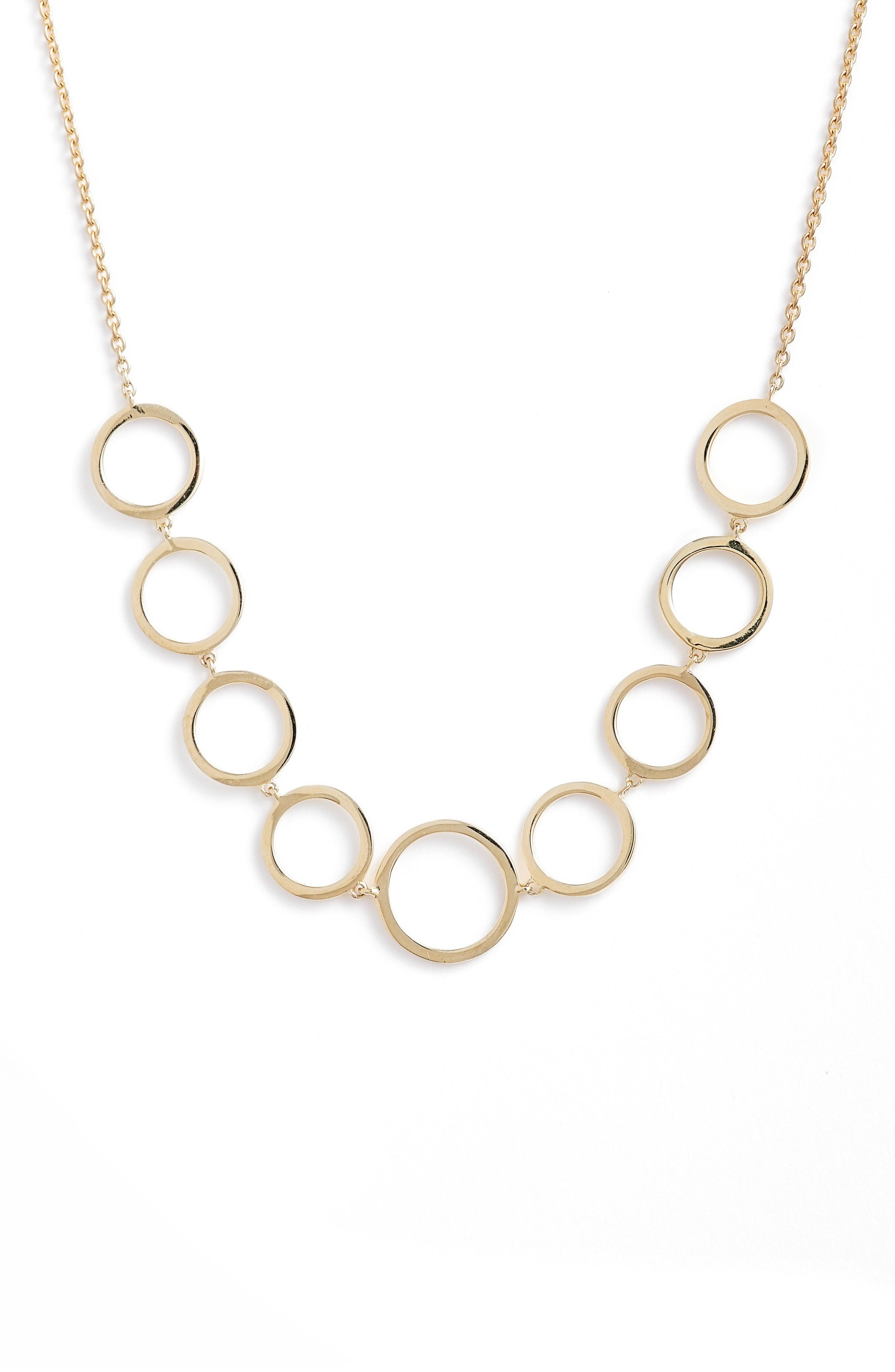 Geo Circle Necklace,                         Main,                         color, Yellow Gold