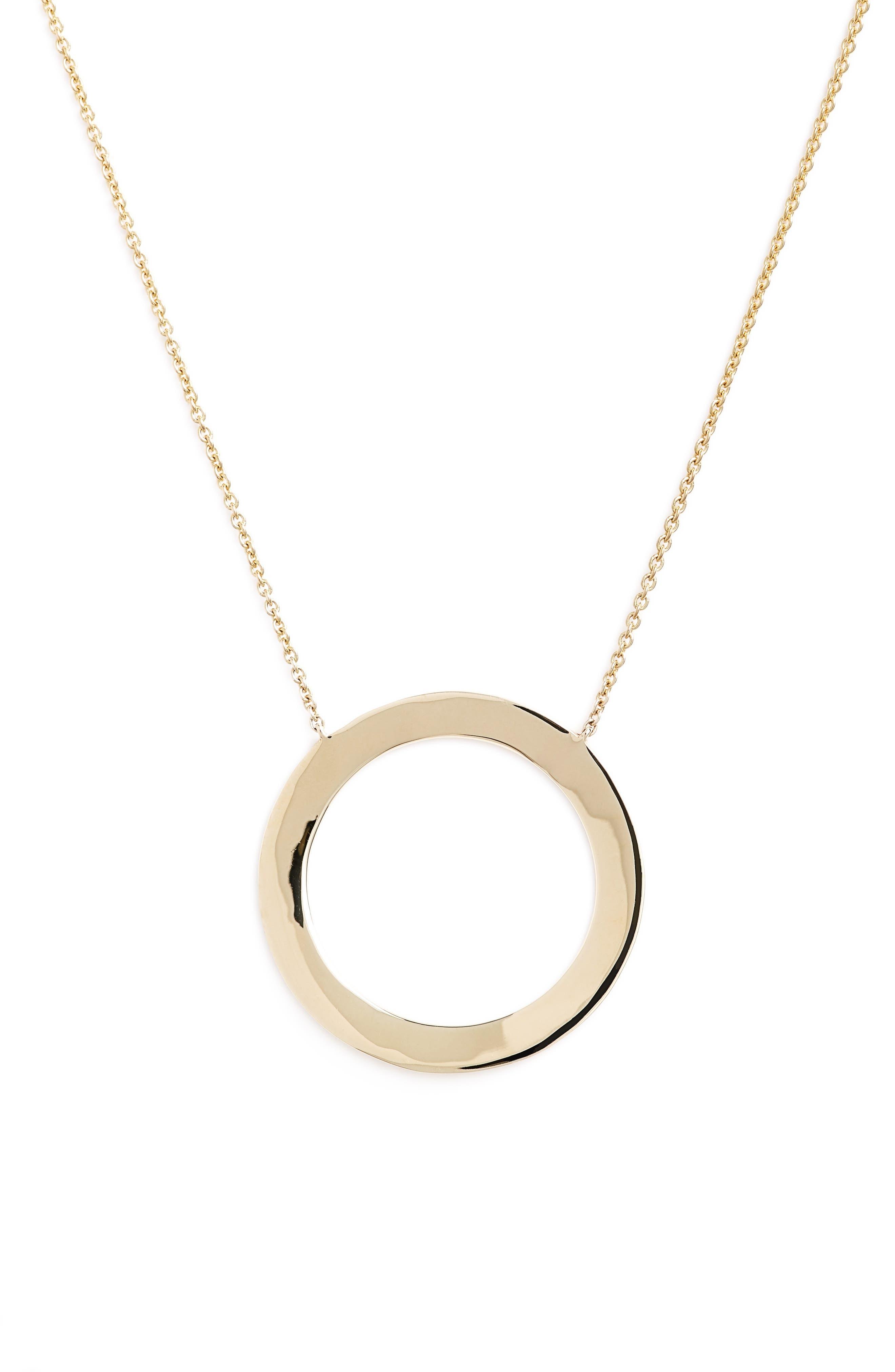 BONY LEVY Geo Circle Pendant Necklace
