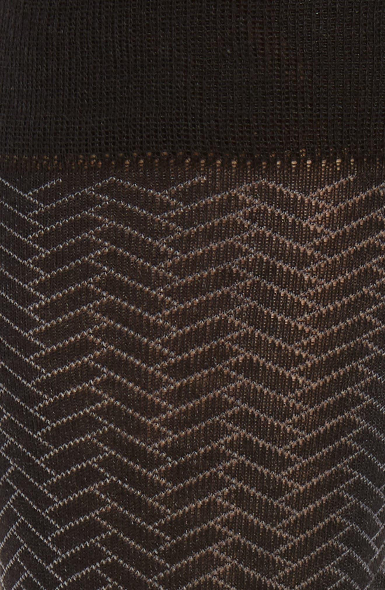 Geometric Crew Socks,                             Alternate thumbnail 2, color,                             Black