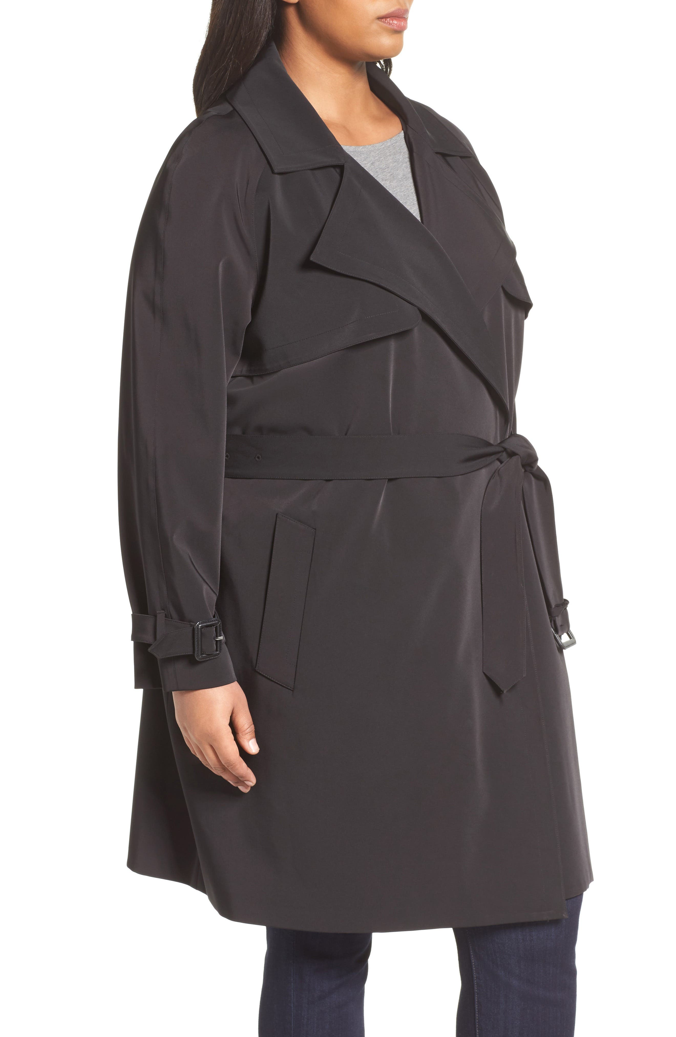 Alternate Image 3  - MICHAEL Michael Kors Trench Coat (Plus Size)