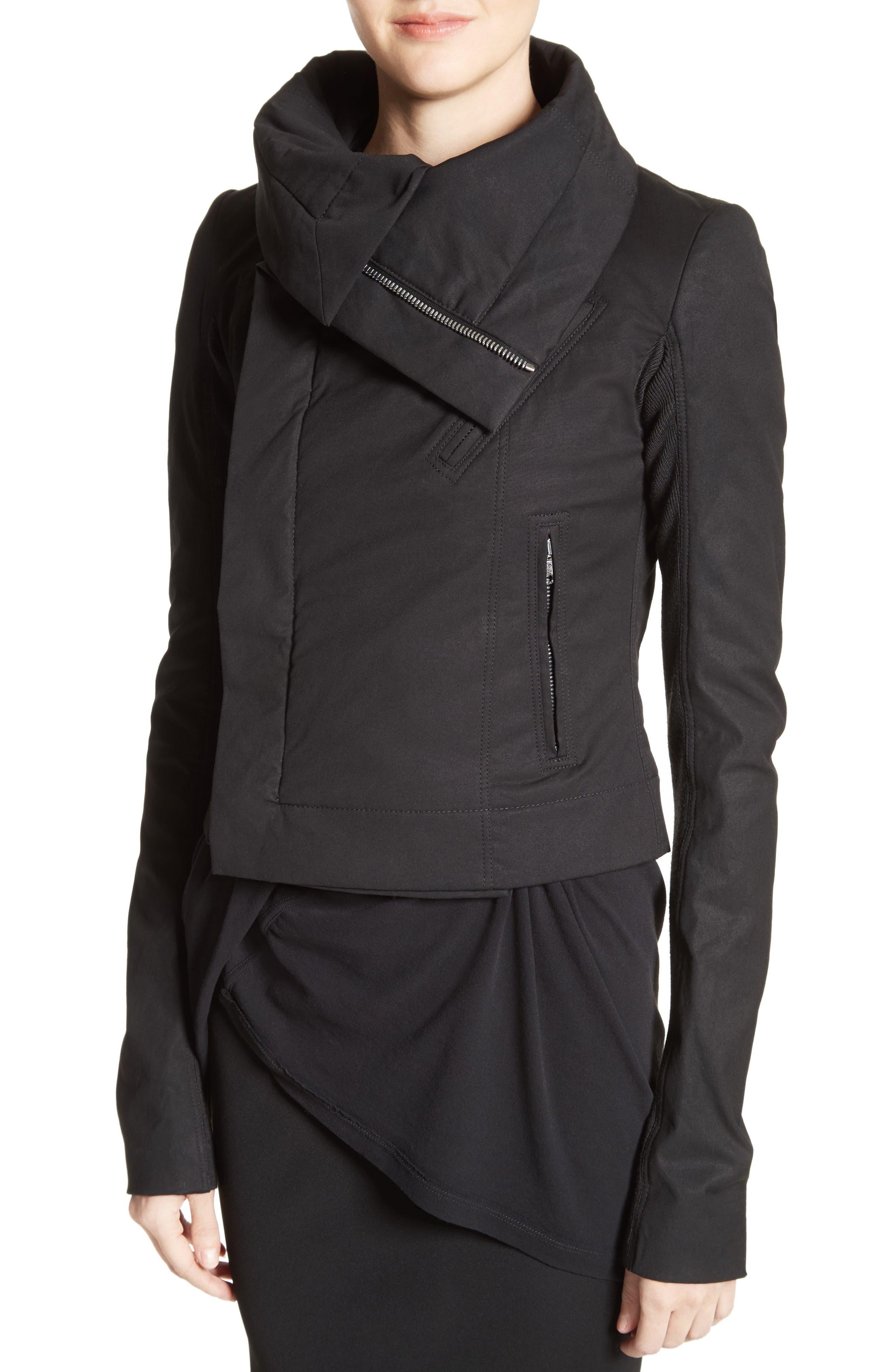 Alternate Image 6  - Rick Owens Stretch Cotton Biker Jacket