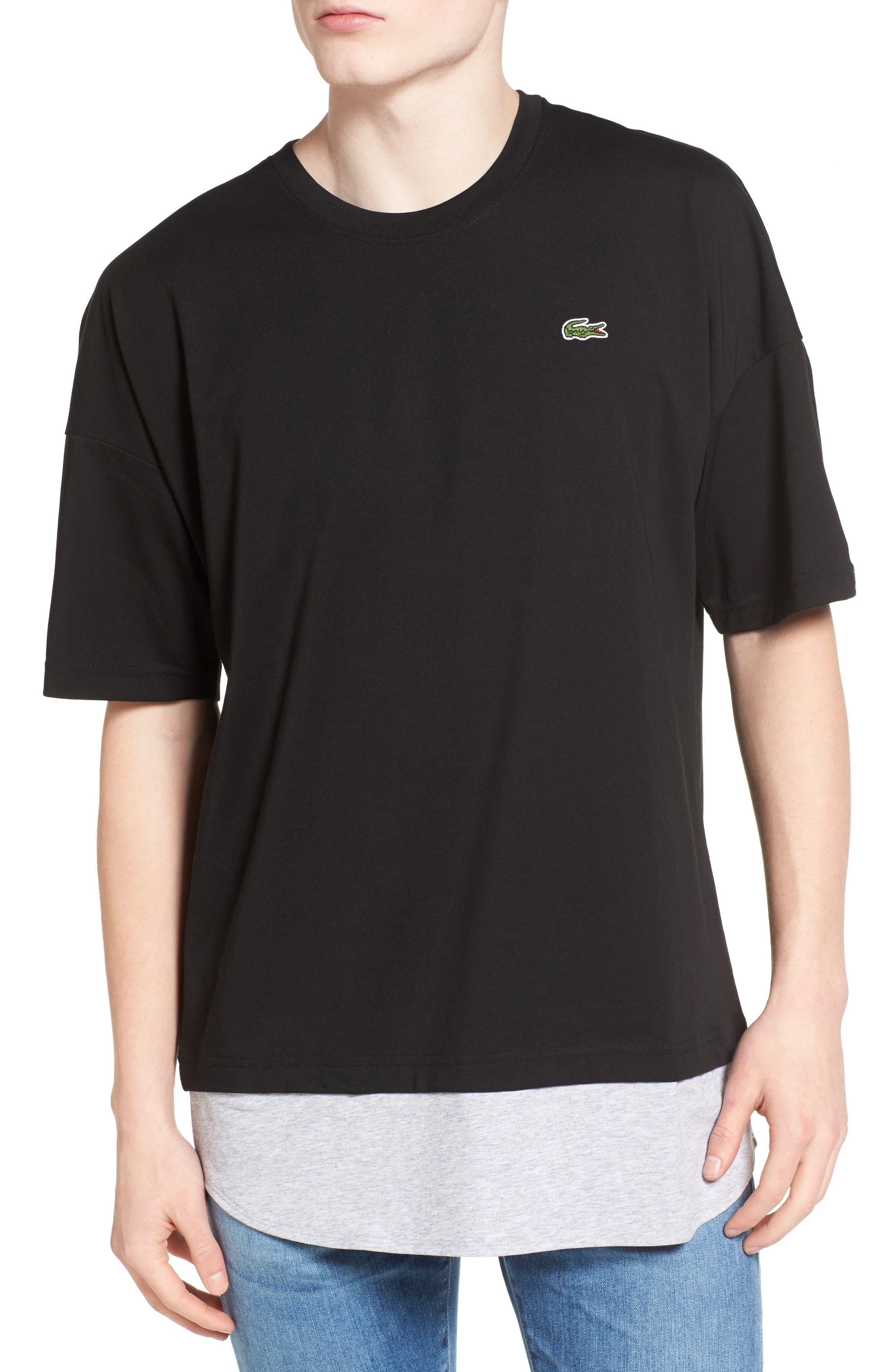 Alternate Image 1 Selected - Lacoste L!VE Mock Layer T-Shirt