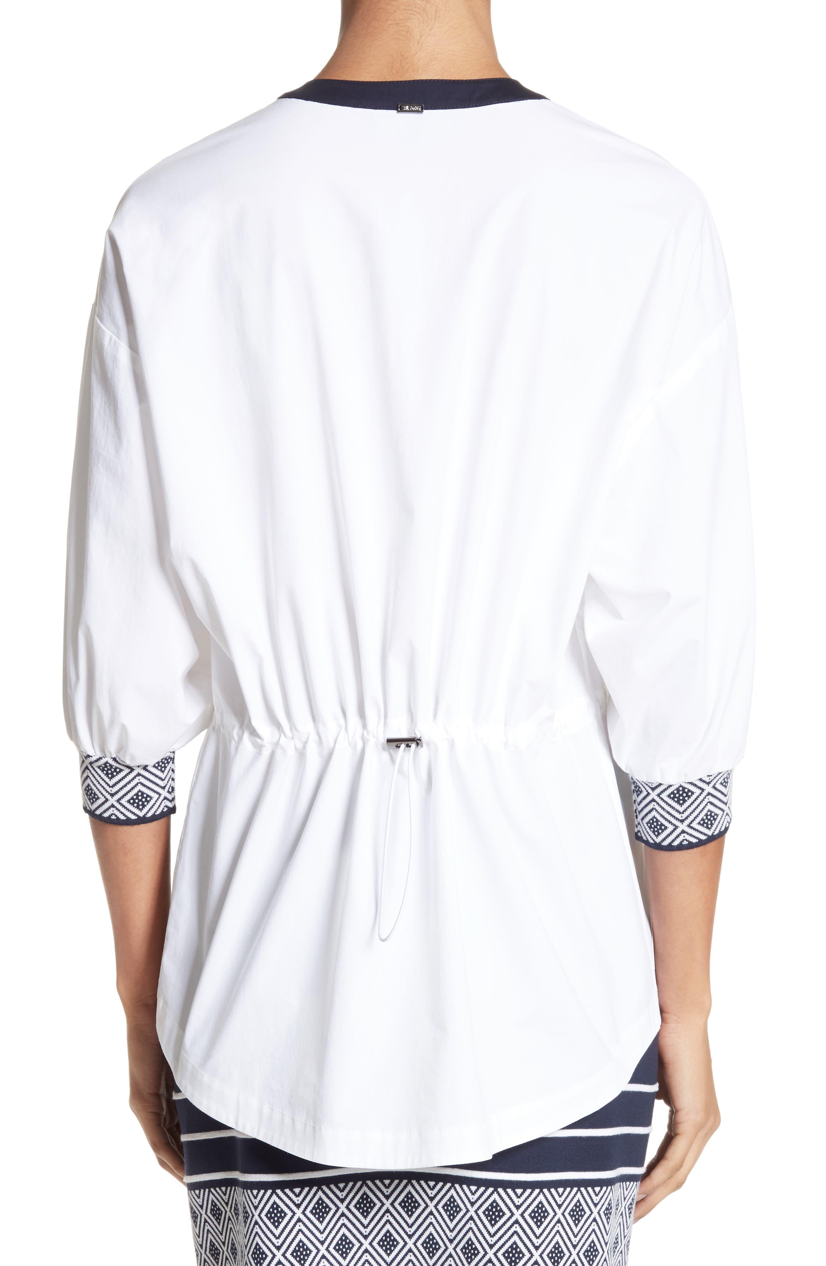 Alternate Image 2  - St. John Collection Devika Tile Techno Stretch Cotton Shirt
