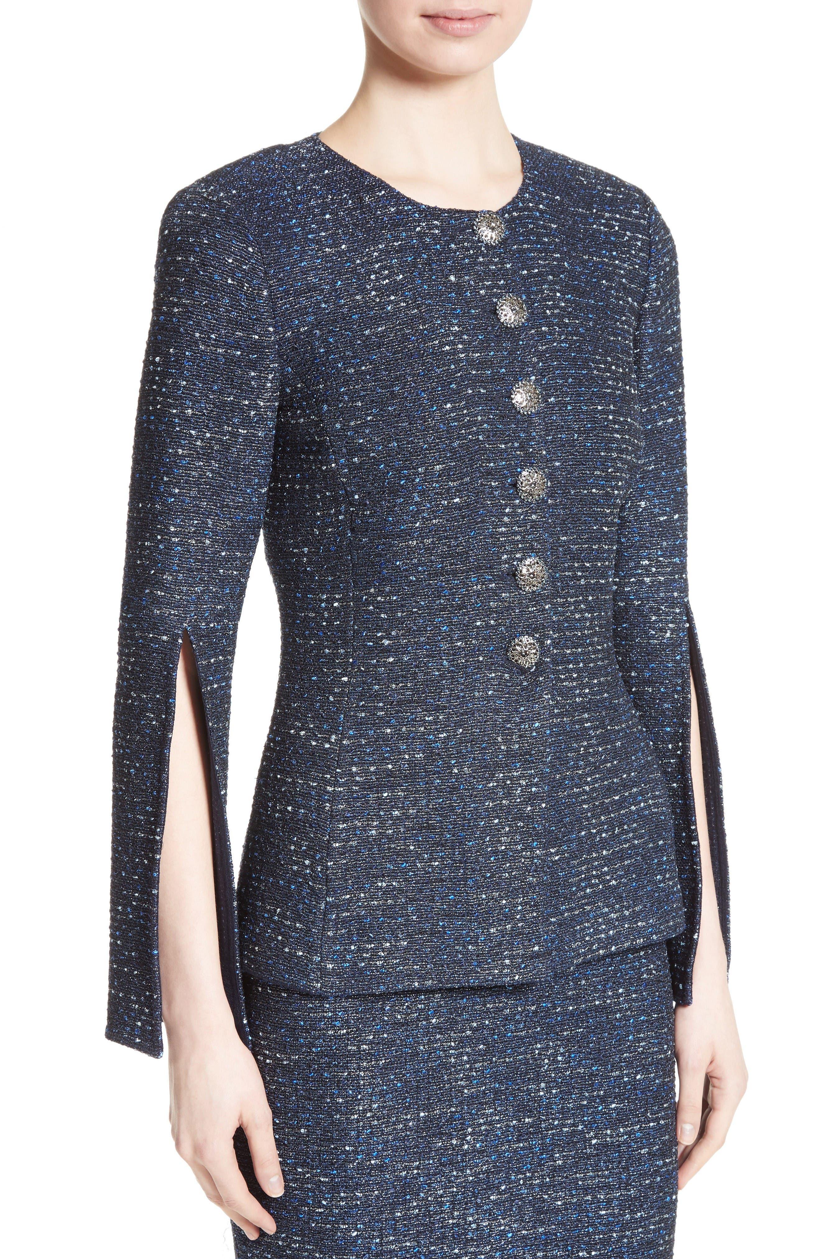 Alternate Image 4  - St. John Collection Alisha Sparkle Tweed Jacket