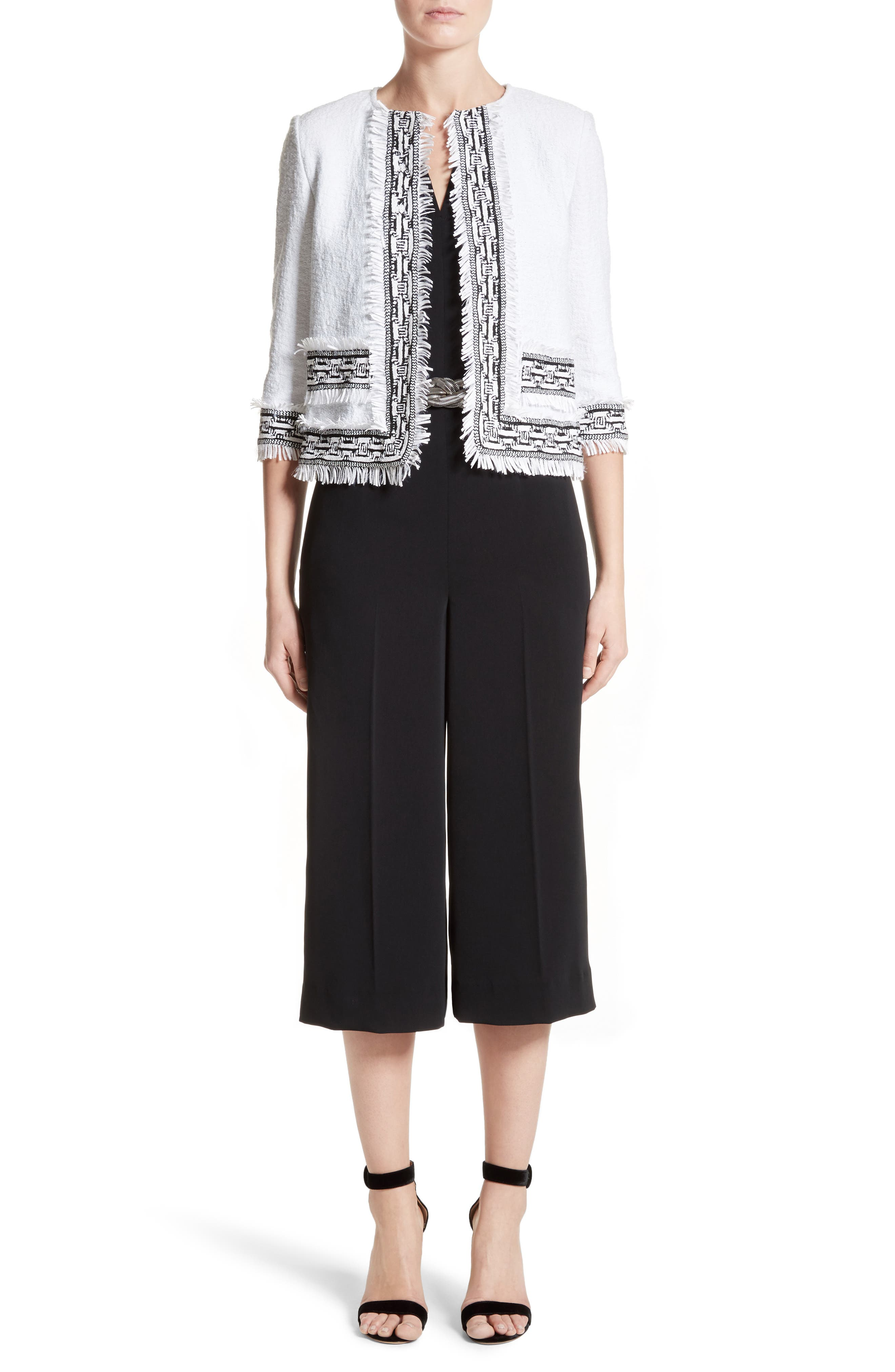 Alternate Image 7  - St. John Collection Fringe Clair Knit Jacket