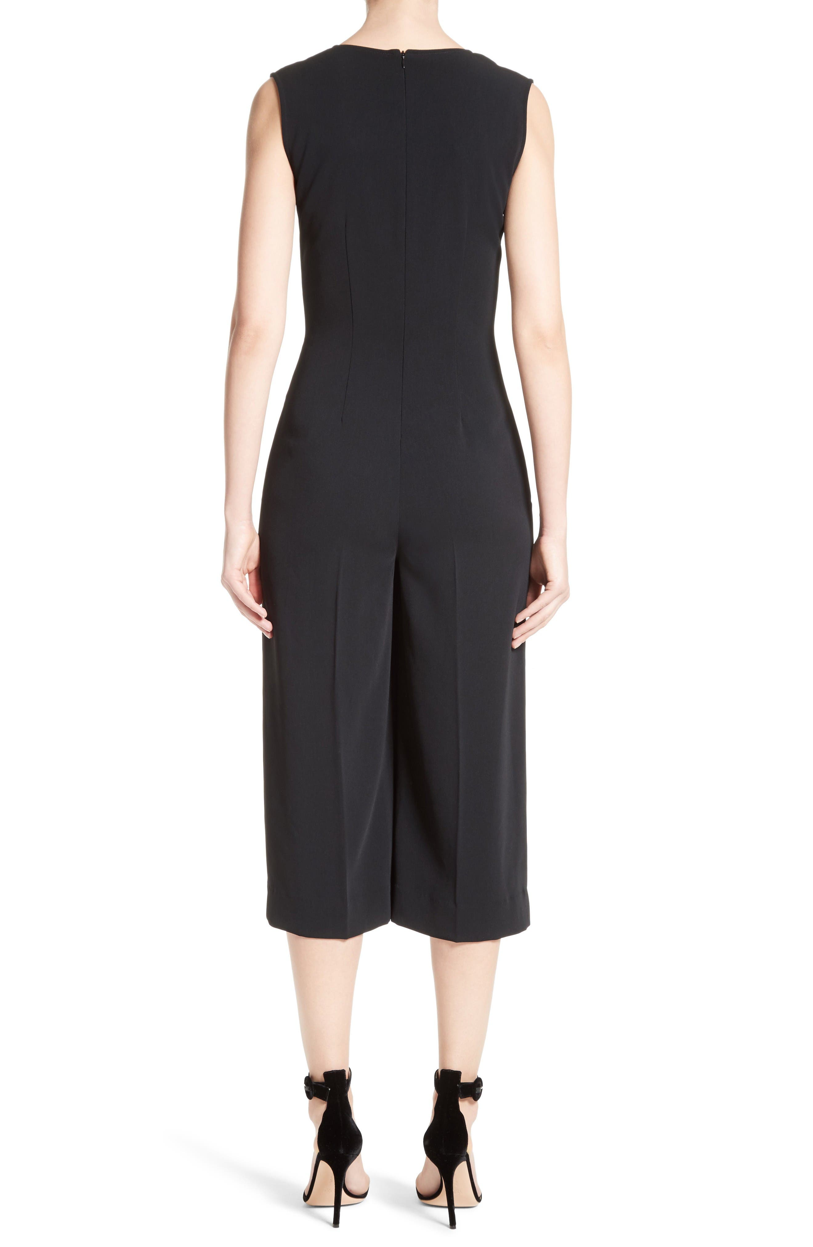 Alternate Image 2  - St. John Collection Classic Stretch Cady Jumpsuit