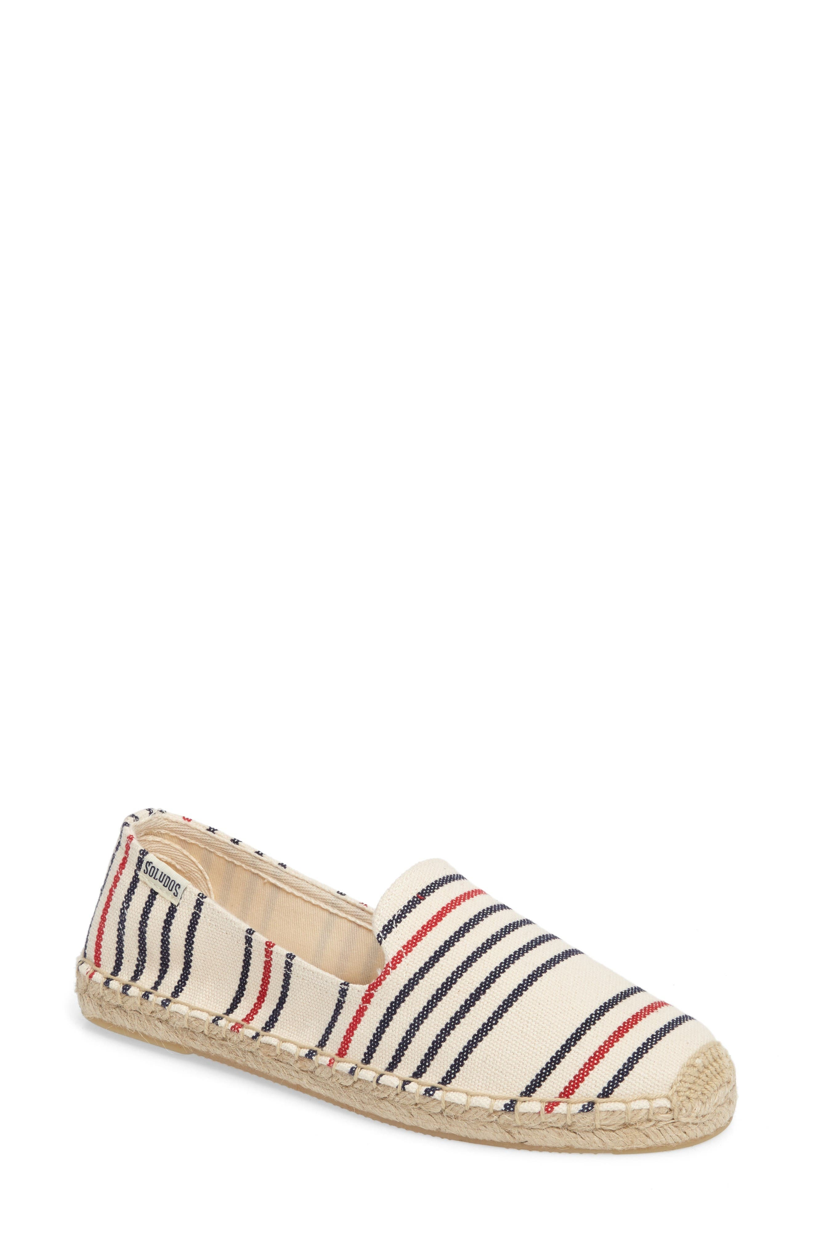 Alternate Image 1 Selected - Soludos Stripe Espadrille Loafer (Women)