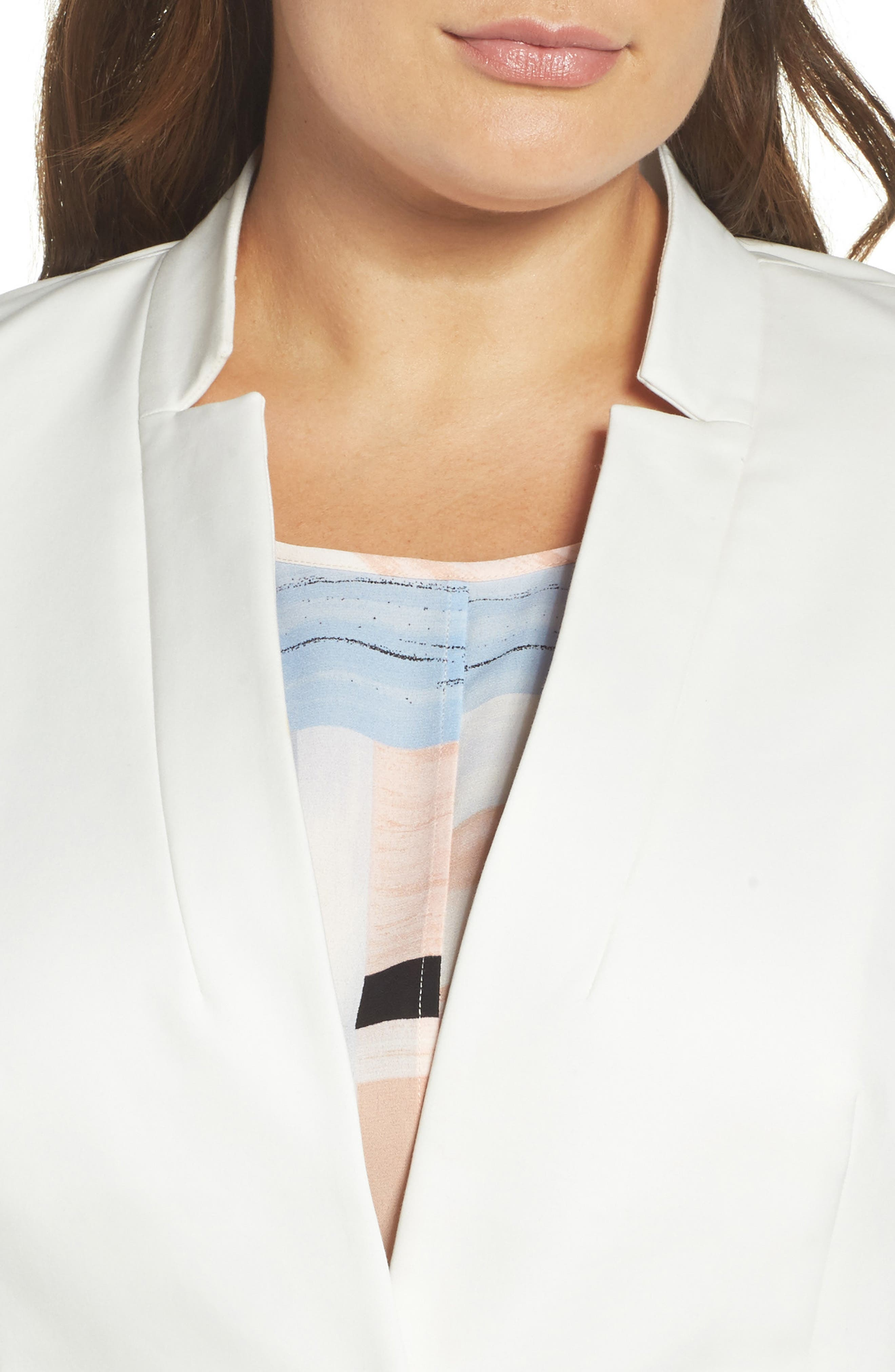 Alternate Image 4  - Vince Camuto One-Button Blazer (Plus Size)