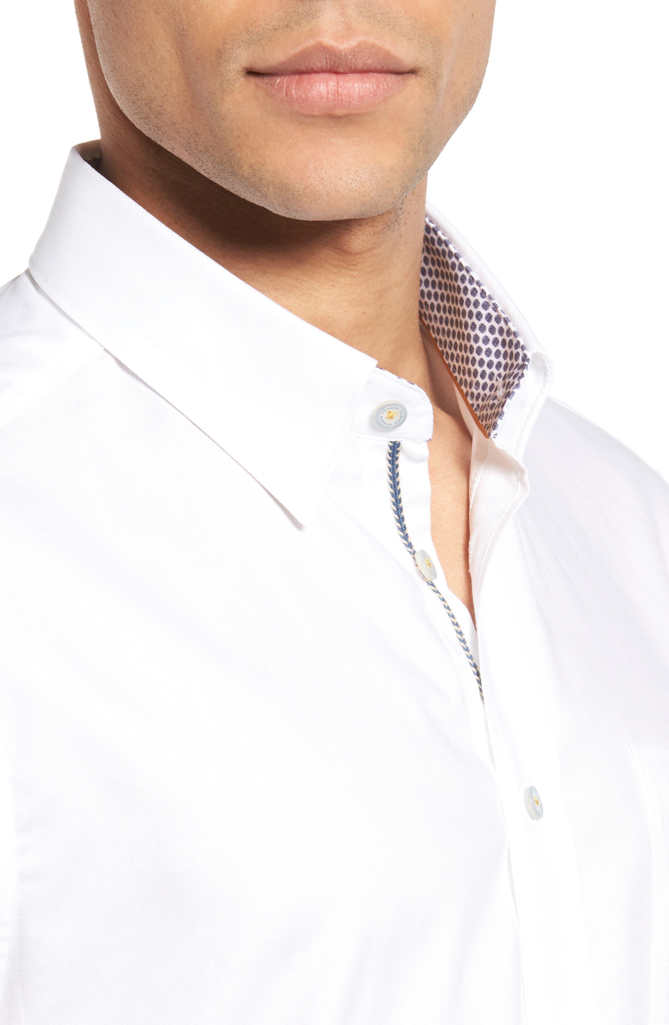 Alternate Image 4  - Ted Baker London Wooey Extra Slim Fit Mini Texture Sport Shirt